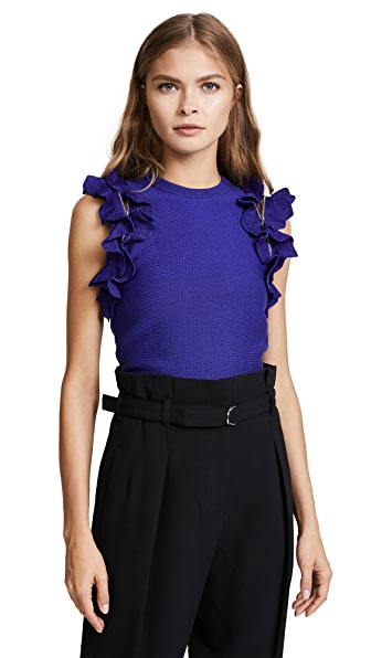 3.1 Phillip Lim Solid Ruffle Sport Top at Shopbop
