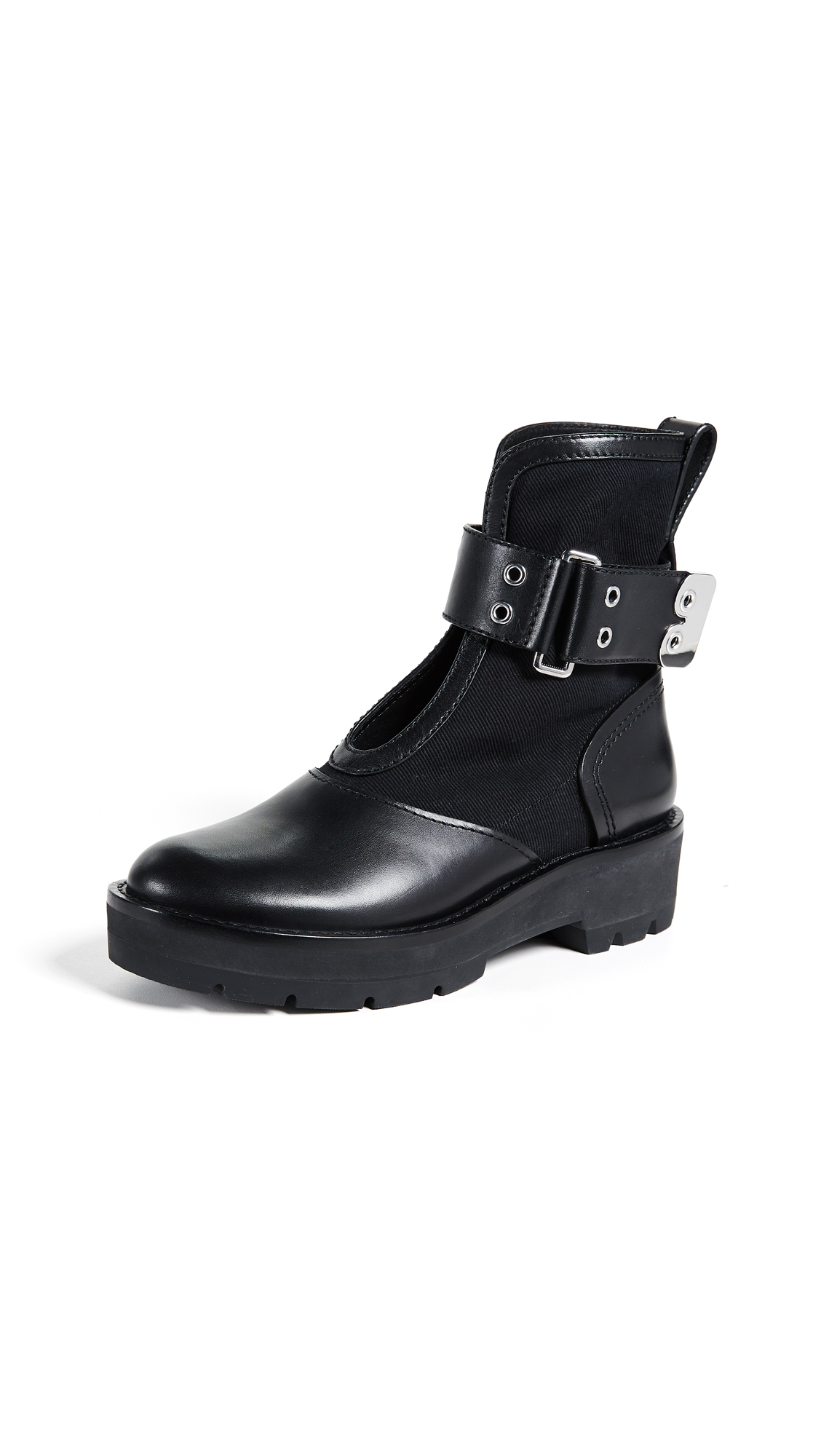 3.1 Phillip Lim Cat Combat Boots - Black