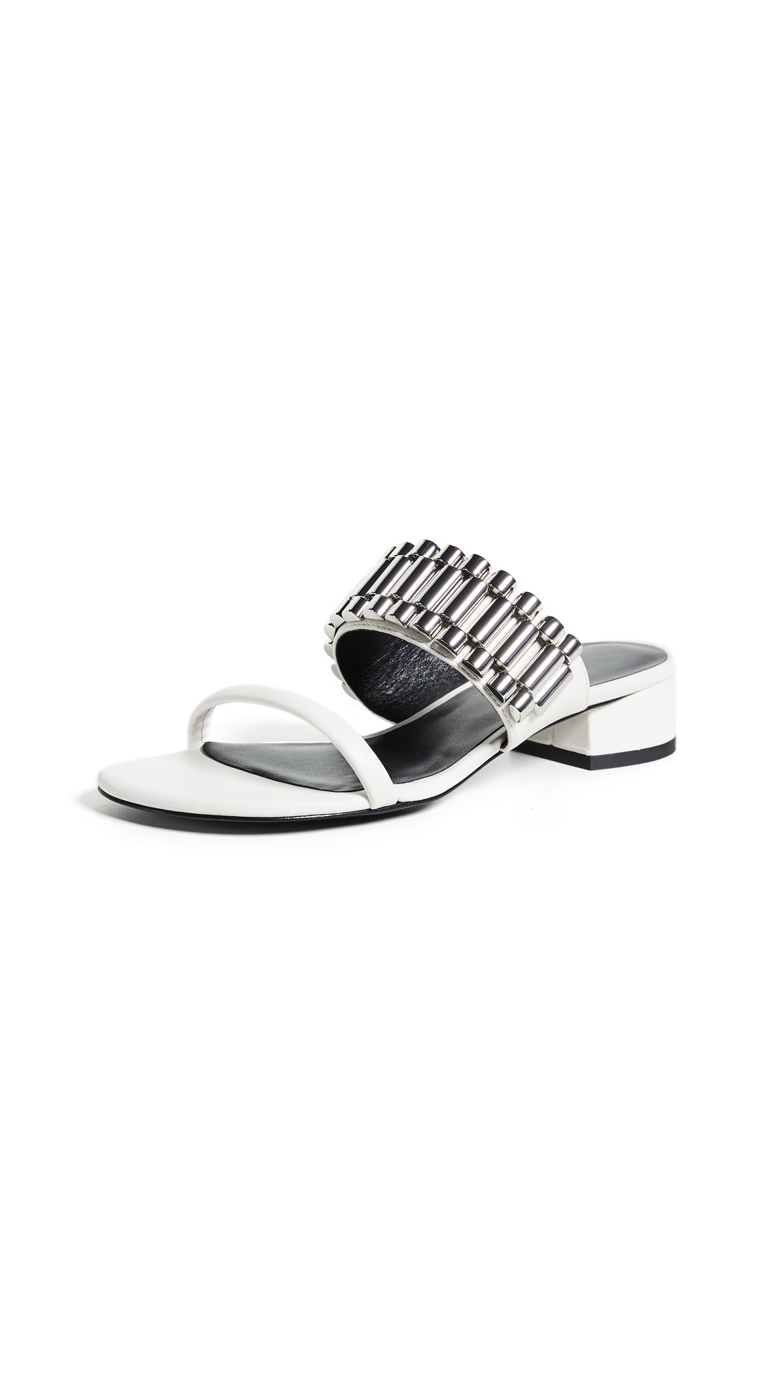 3.1 Phillip Lim Drum 30mm Watch Strap Sandals - White