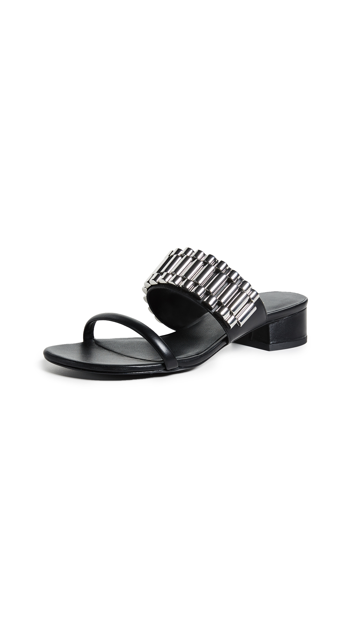 3.1 Phillip Lim Drum 30mm Watch Strap Sandals - Black