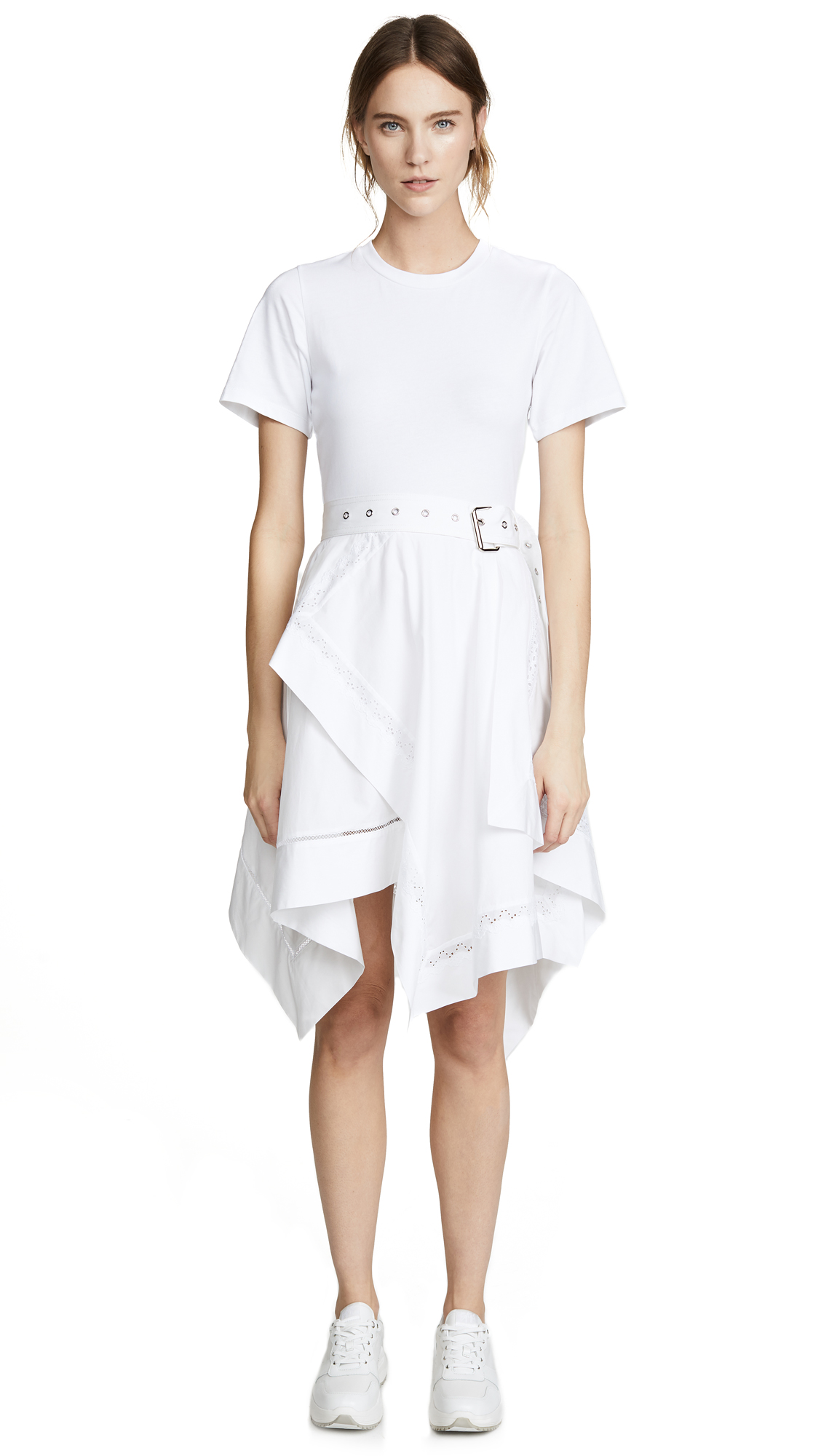 3.1 Phillip Lim Dress with Handkerchief Skirt - White