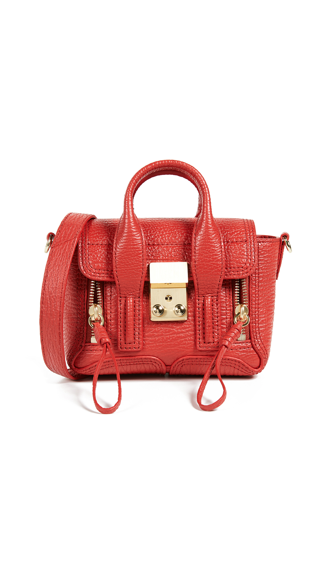 3.1 Phillip Lim Pashli Nano Satchel - Red
