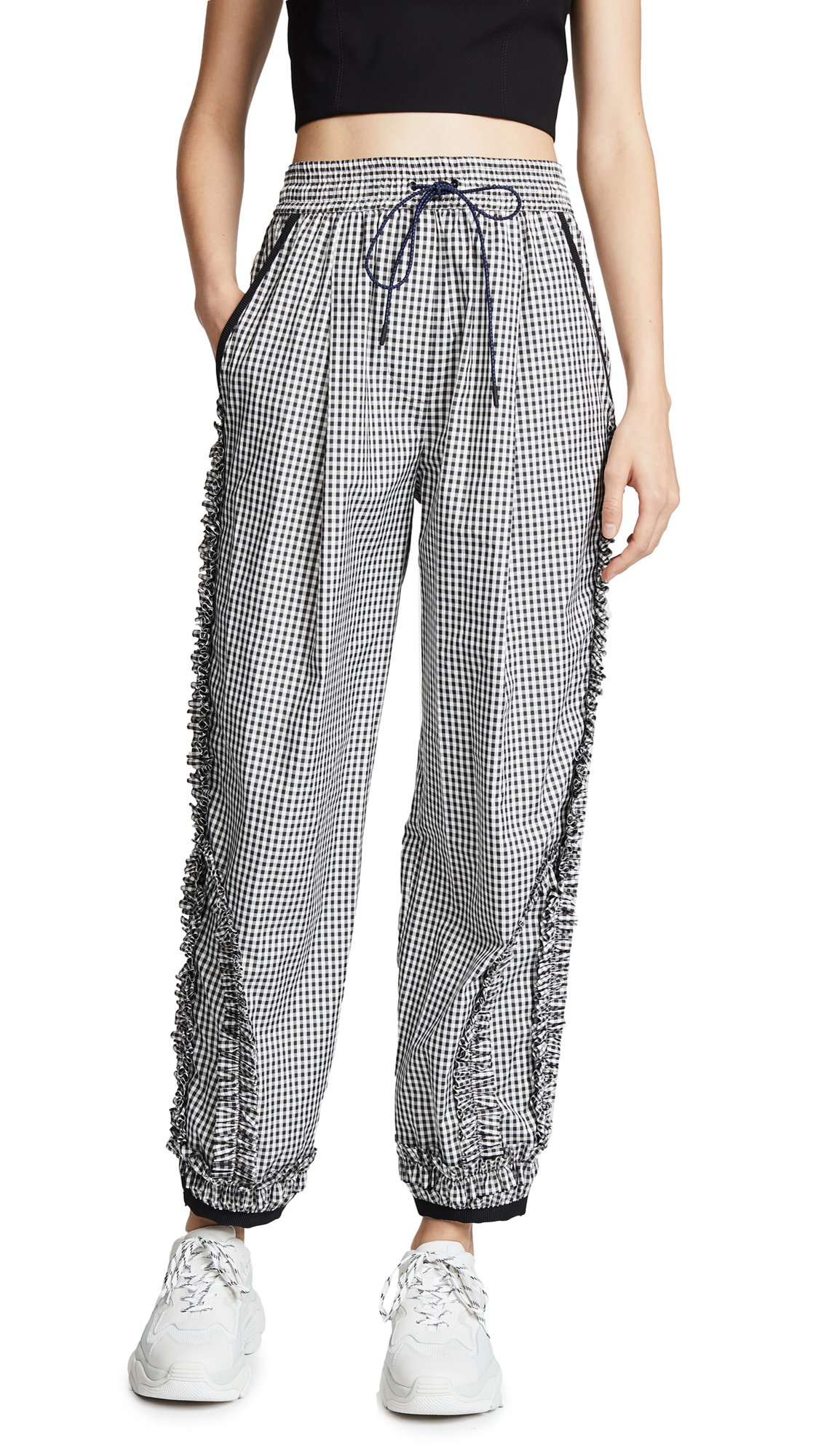 3.1 Phillip Lim Gingham Track Pants