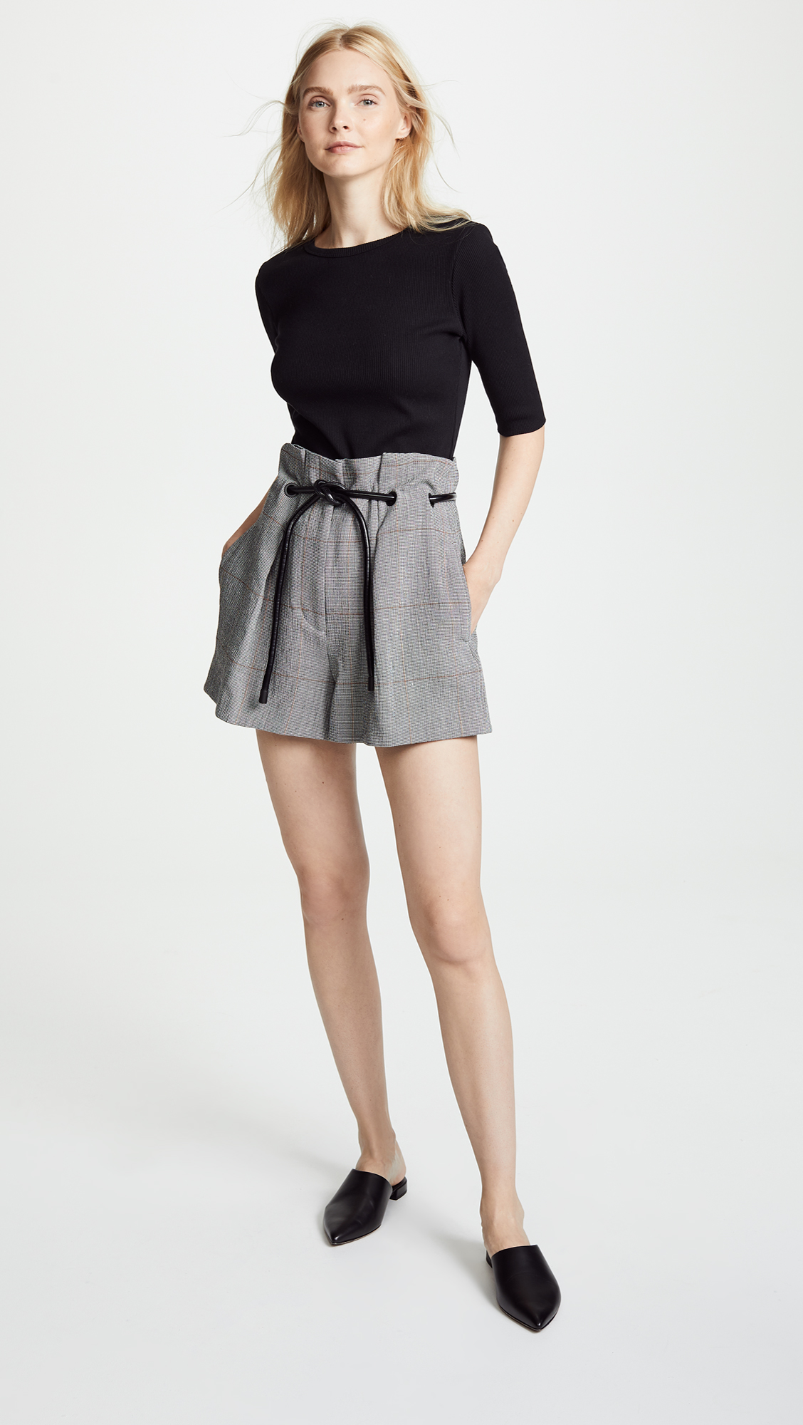8578188be039 3.1 Phillip Lim Pleated Shorts with Ties