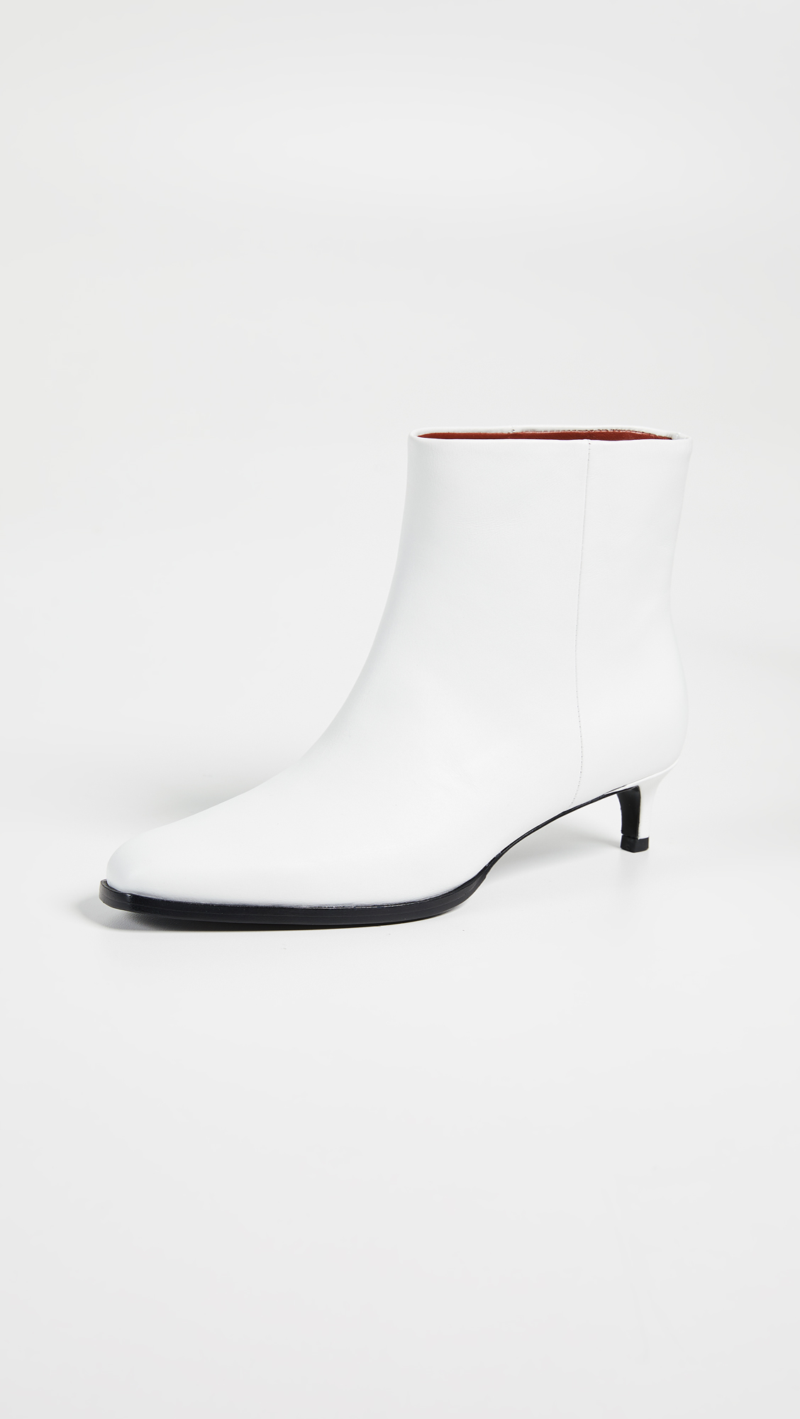 Agatha Ankle Booties in Optic White