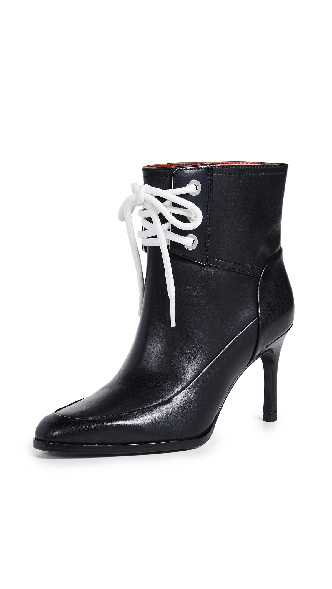3.1 Phillip Lim Agatha Lace Up Booties - Black