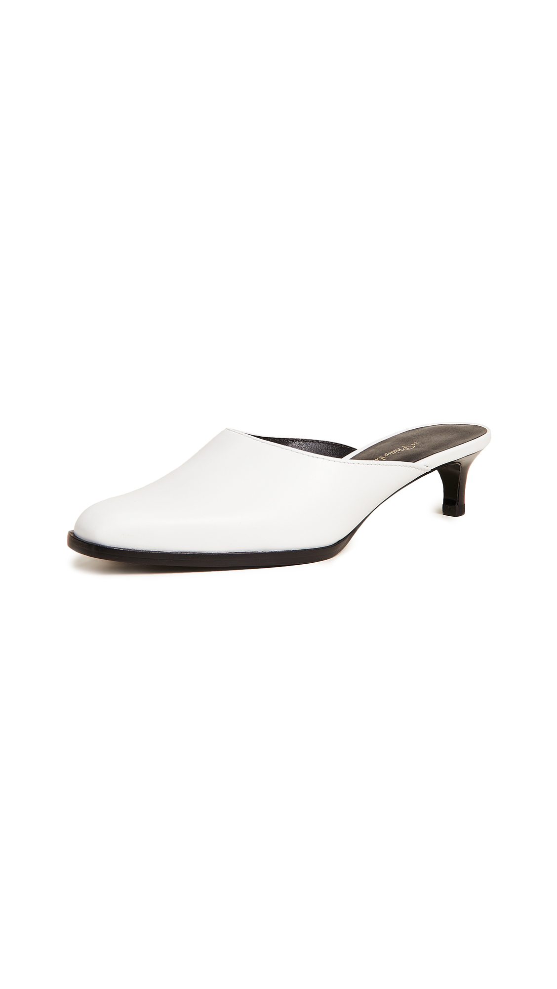 3.1 Phillip Lim Agatha Kitten Mules - Optic White