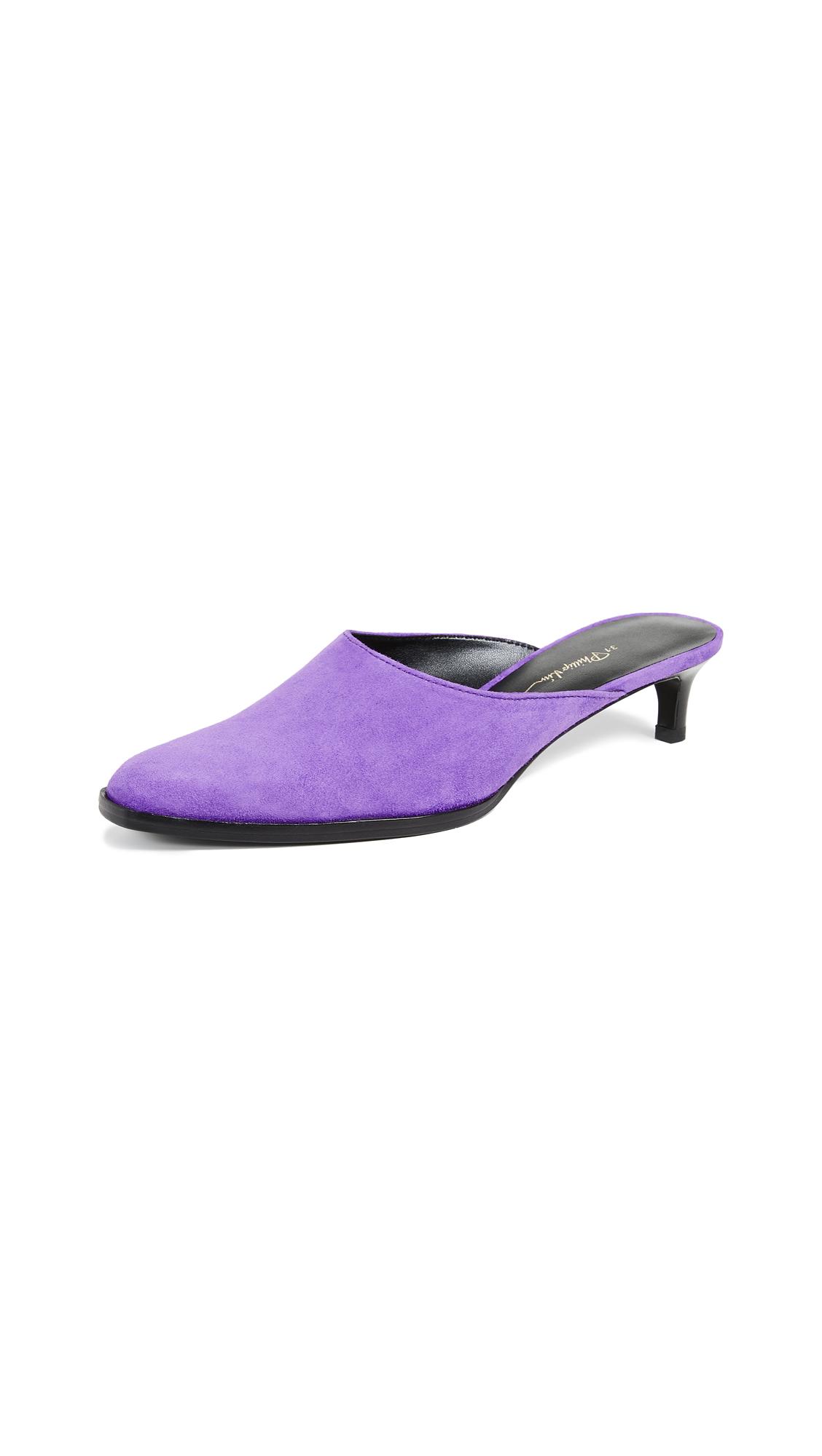3.1 Phillip Lim Agatha Kitten Mules - Violet