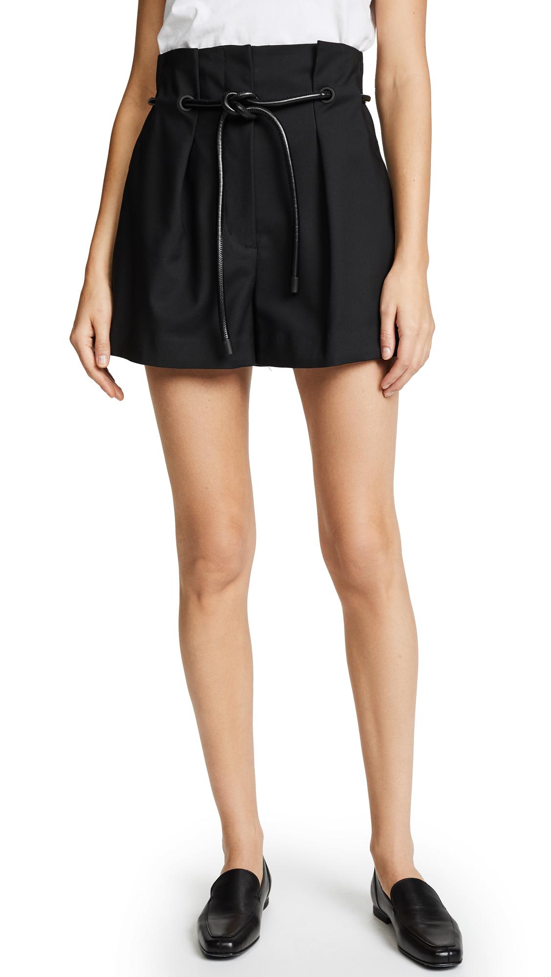 3.1 Phillip Lim Origami Pleated Shorts - Black