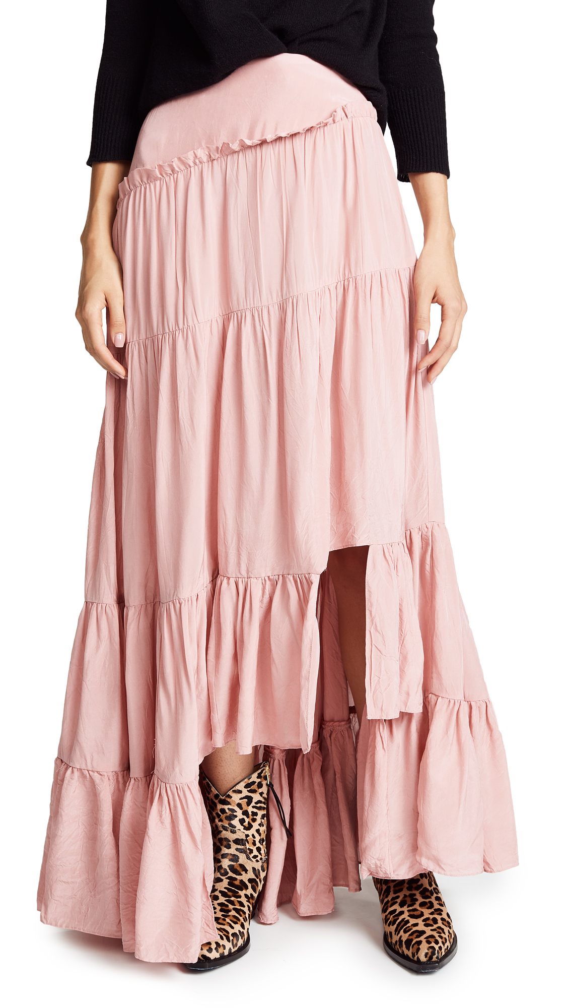 3.1 Phillip Lim Full Gathered Skirt In Dusty Pink