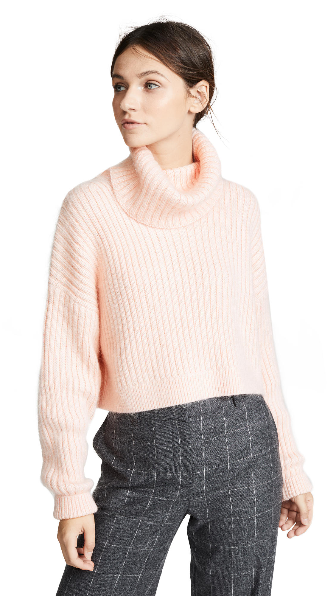 MOHAIR CROPPED TURTLENECK