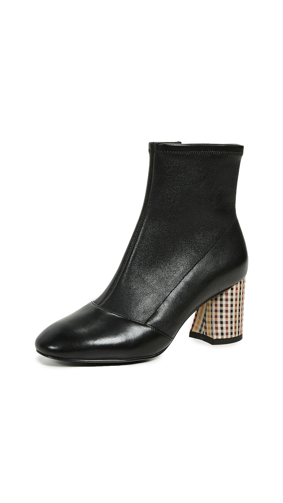 3.1 Phillip Lim Drum Stretch Ankle Booties - Black Multi