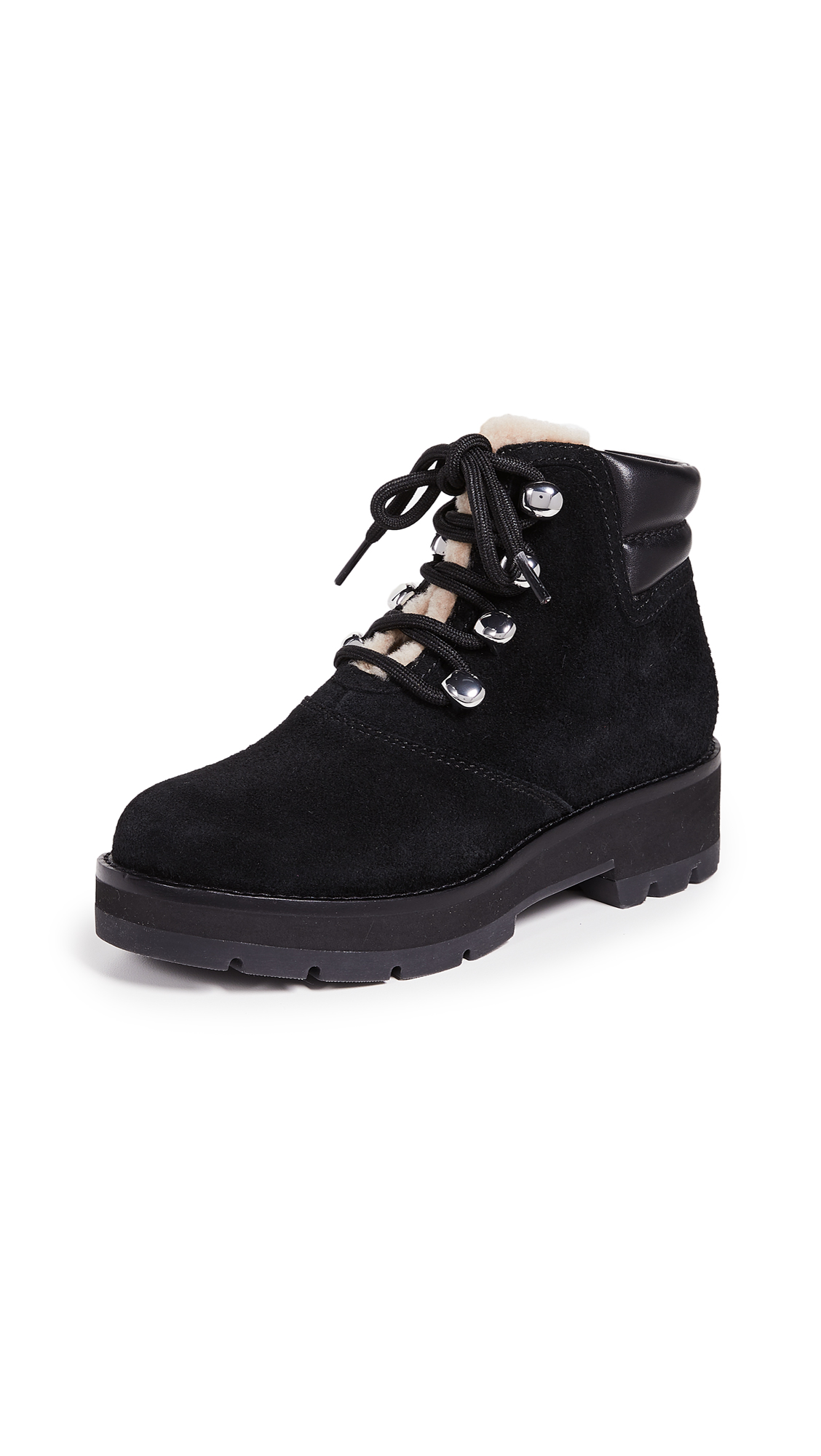 3.1 Phillip Lim Dylan Hiking Boots - Black/Natural