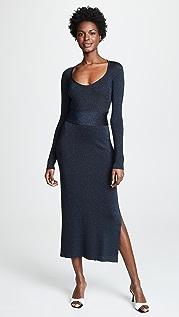 3.1 Phillip Lim Metallic Rib Midi Dress