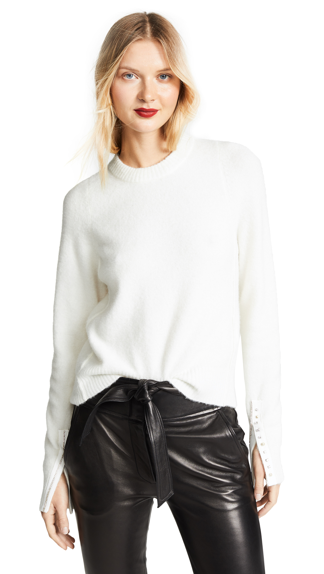3.1 Phillip Lim Inset Shoulder Pullover - Antique White