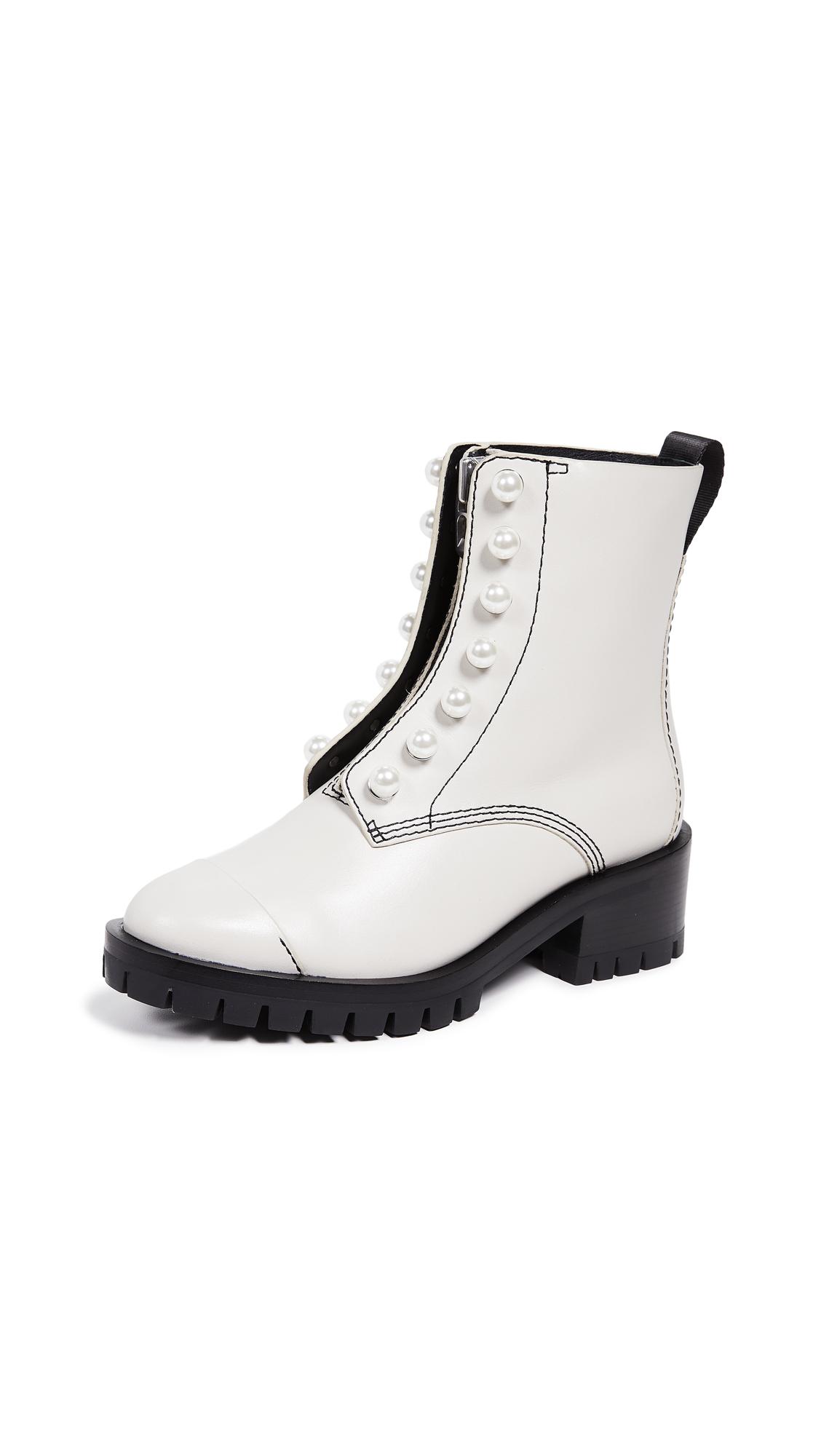 3.1 Phillip Lim Hayett Lug Sole Pearl Boots - Pale Grey