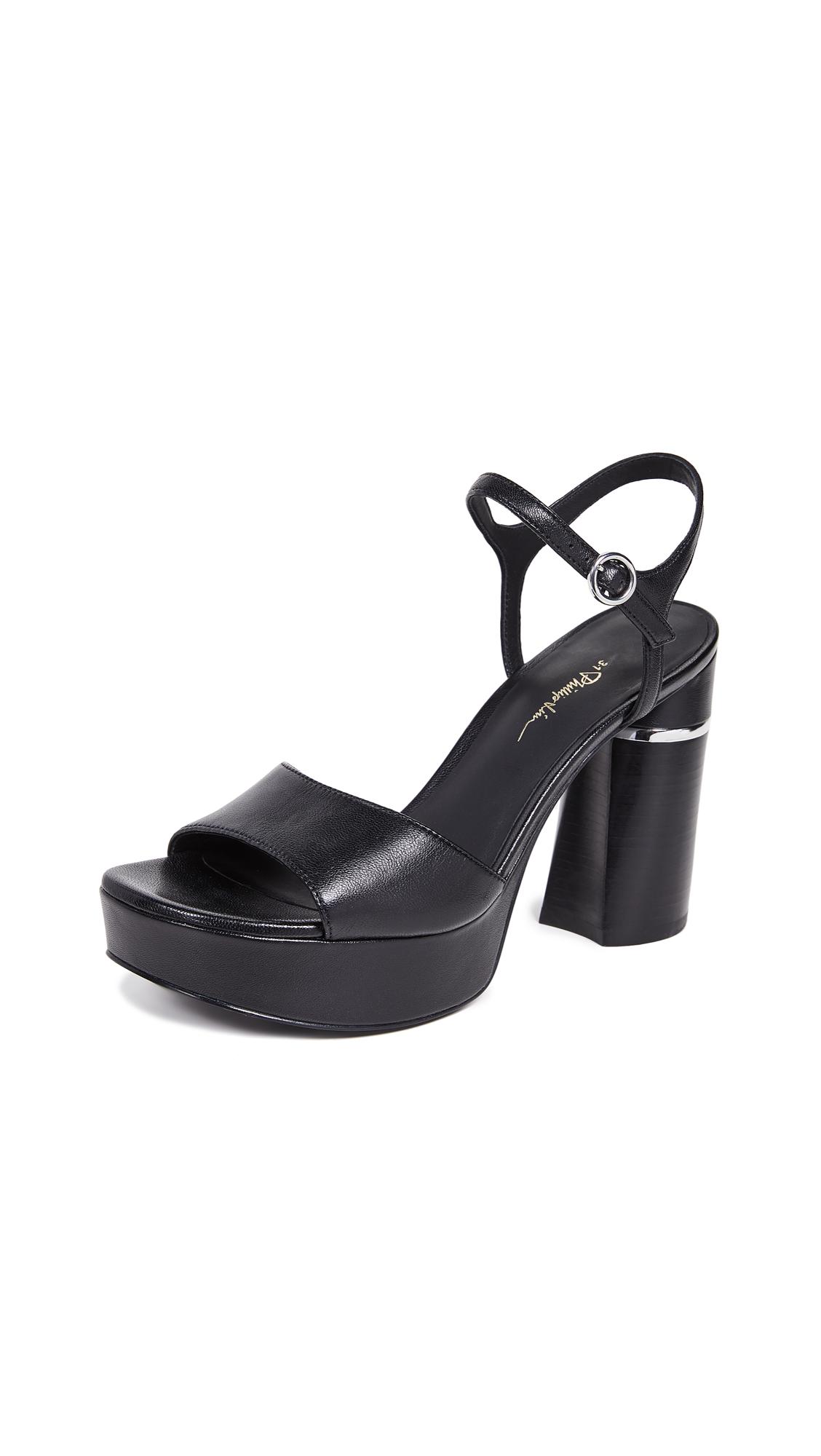 3.1 Phillip Lim Ziggy Platform Sandals - Black
