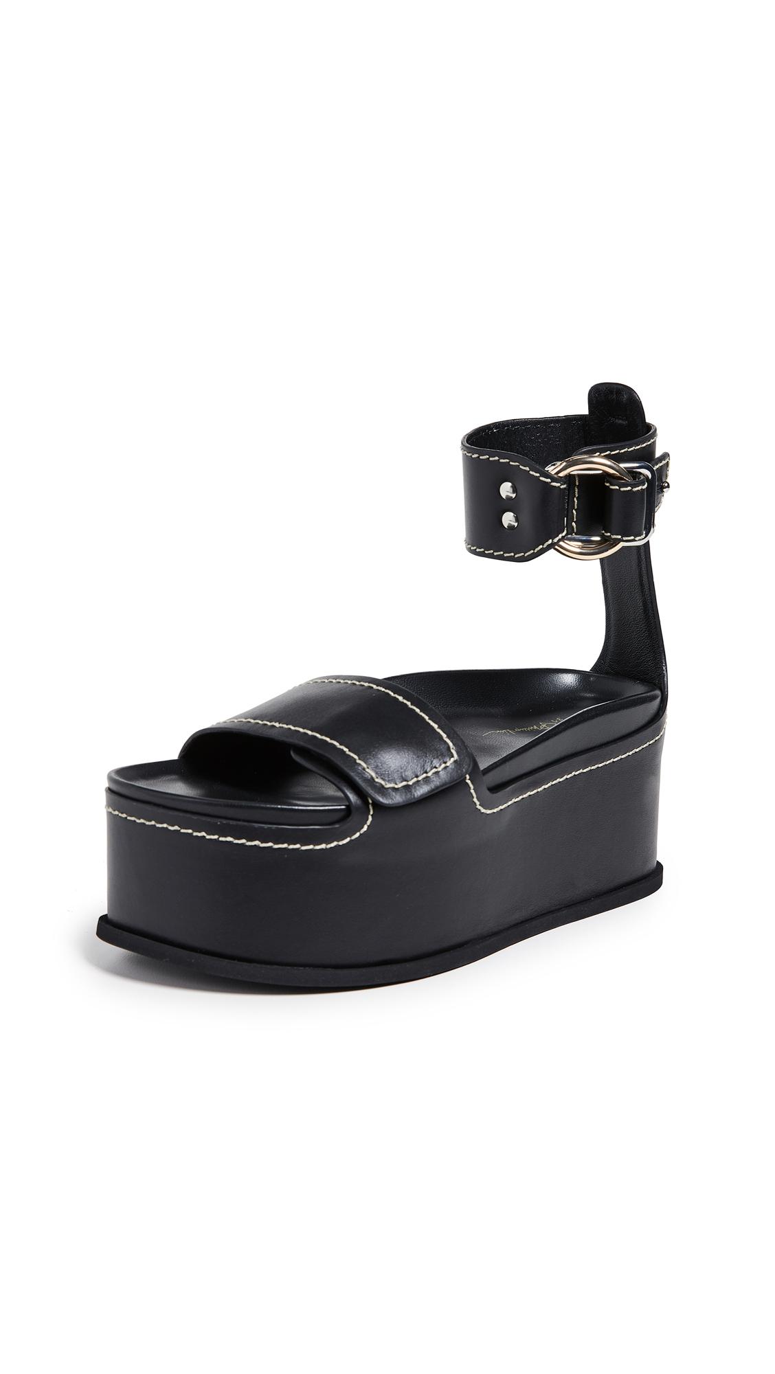 3.1 Phillip Lim Freida Platform Sandals - Black