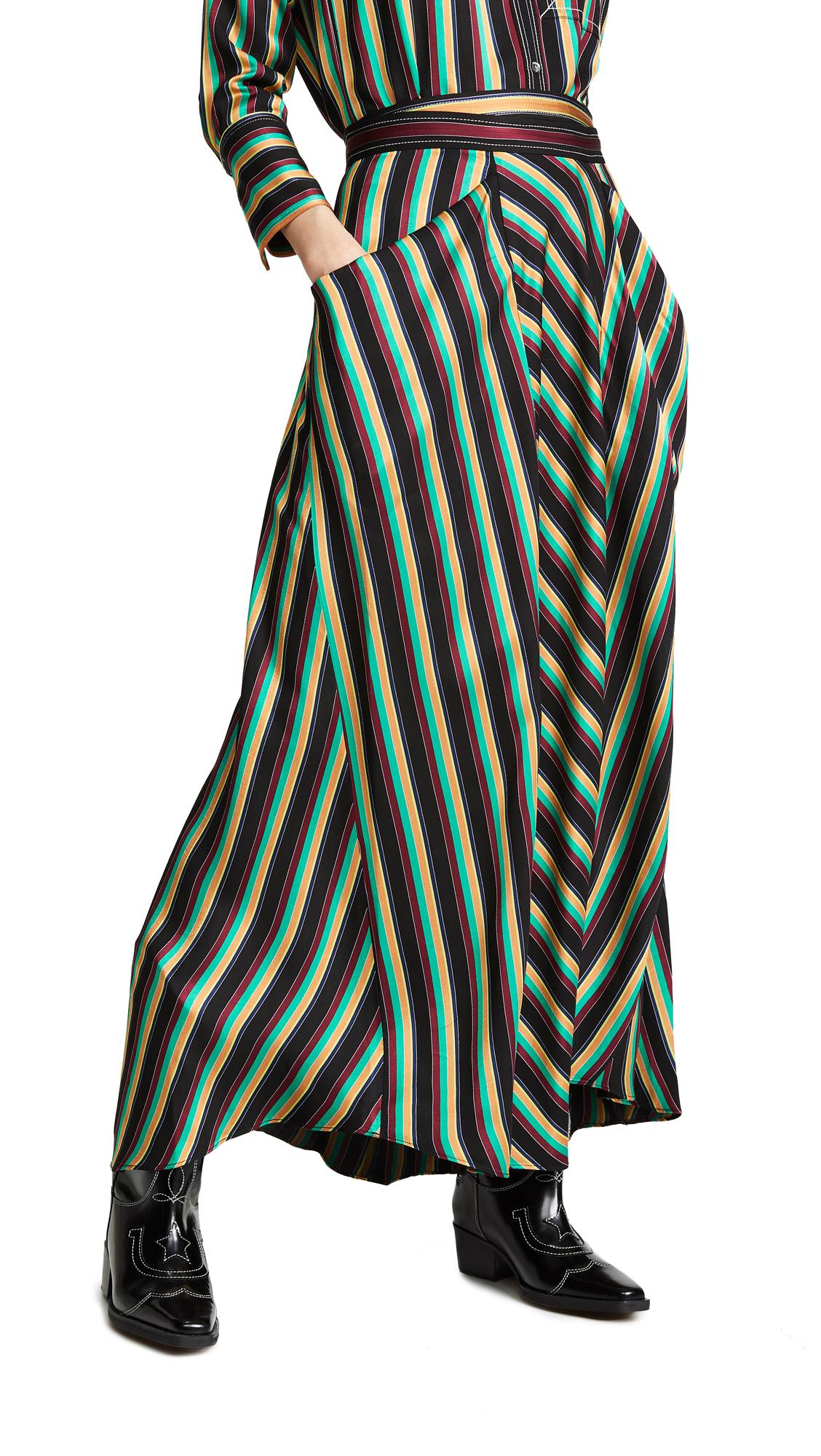 3.1 Phillip Lim Striped Maxi Skirt - Black Multi Stripe
