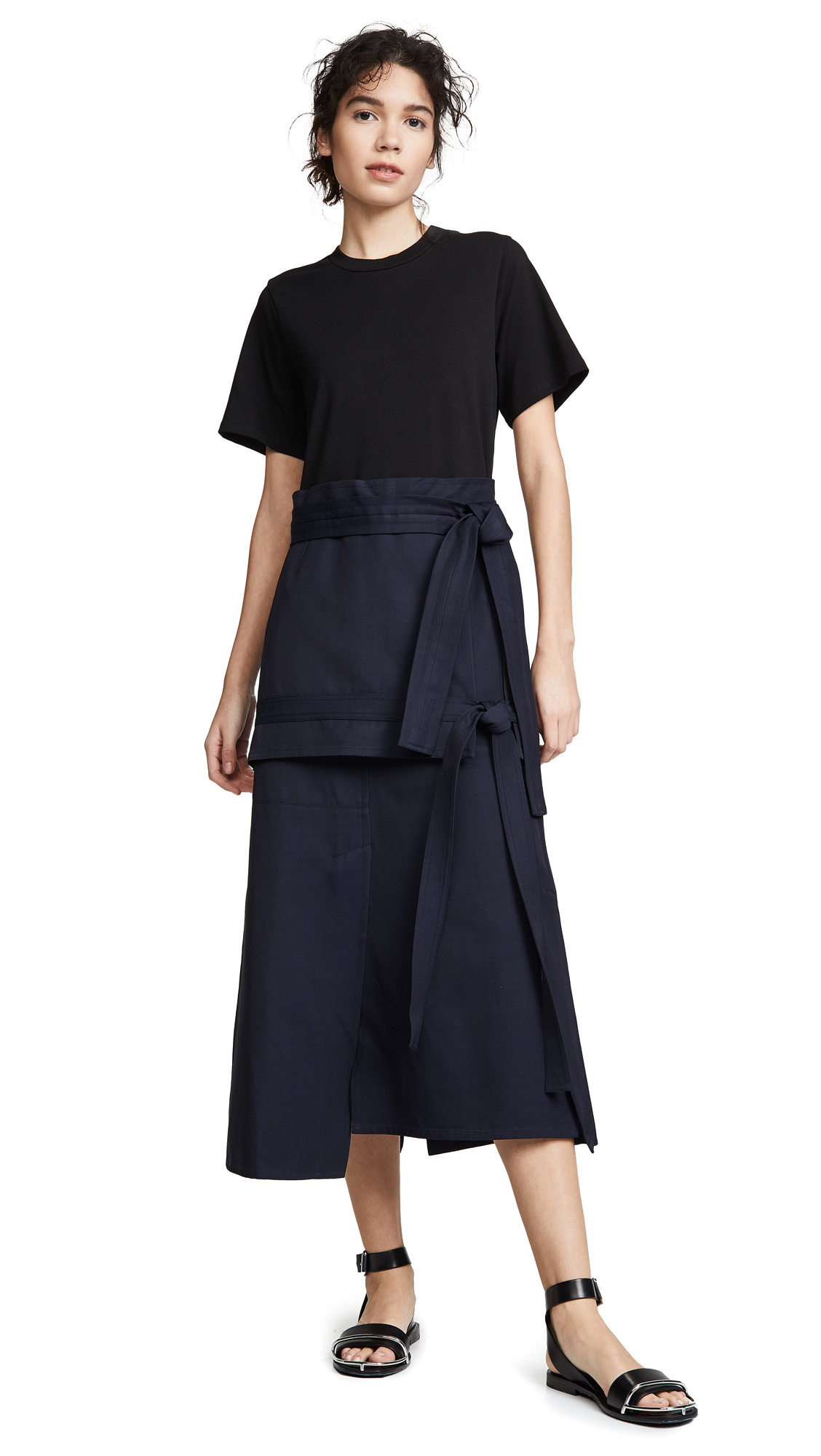 3.1 Phillip Lim Front Tie Dress - Midnight