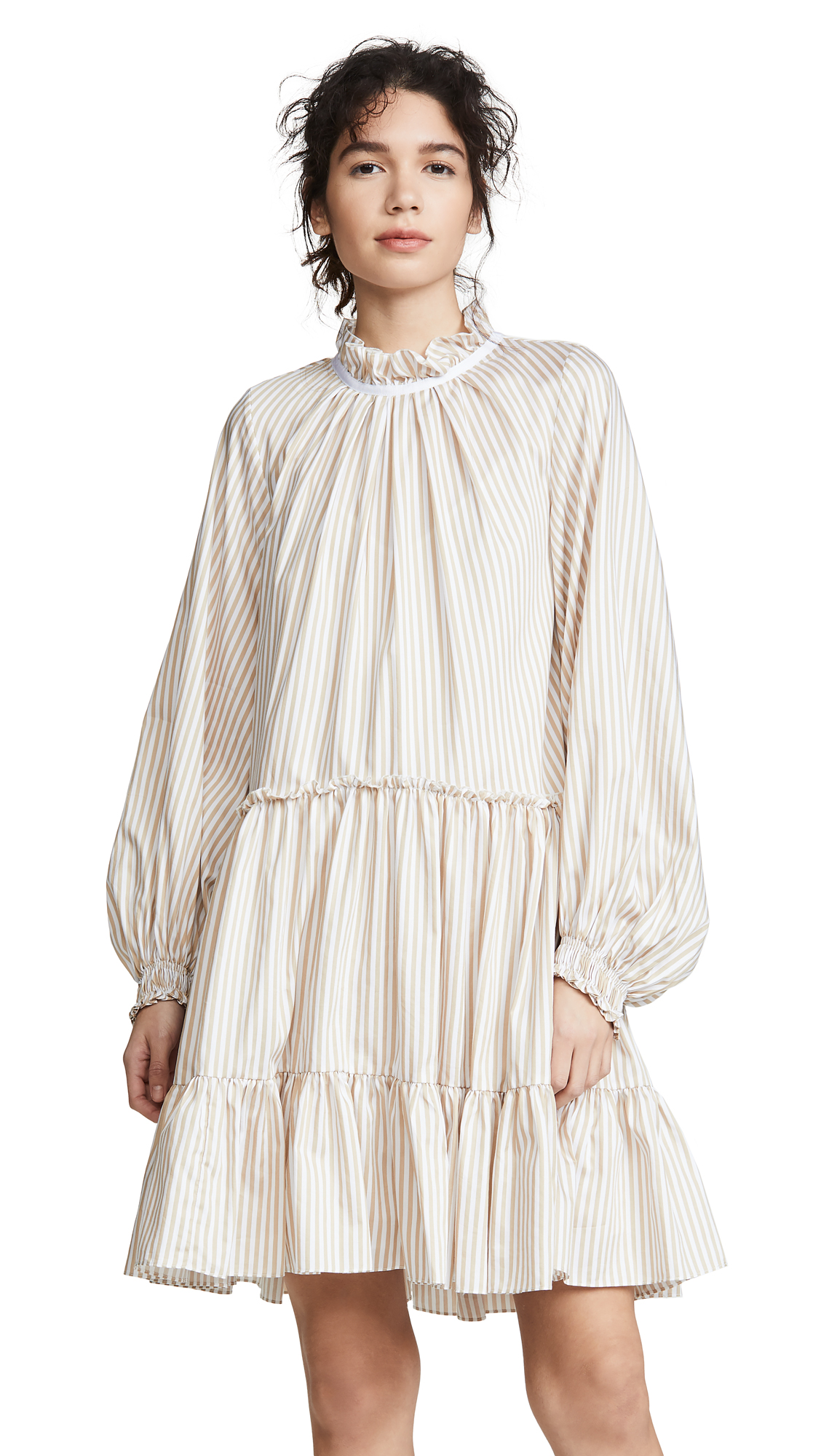 3.1 Phillip Lim Striped Dress - Khaki/White