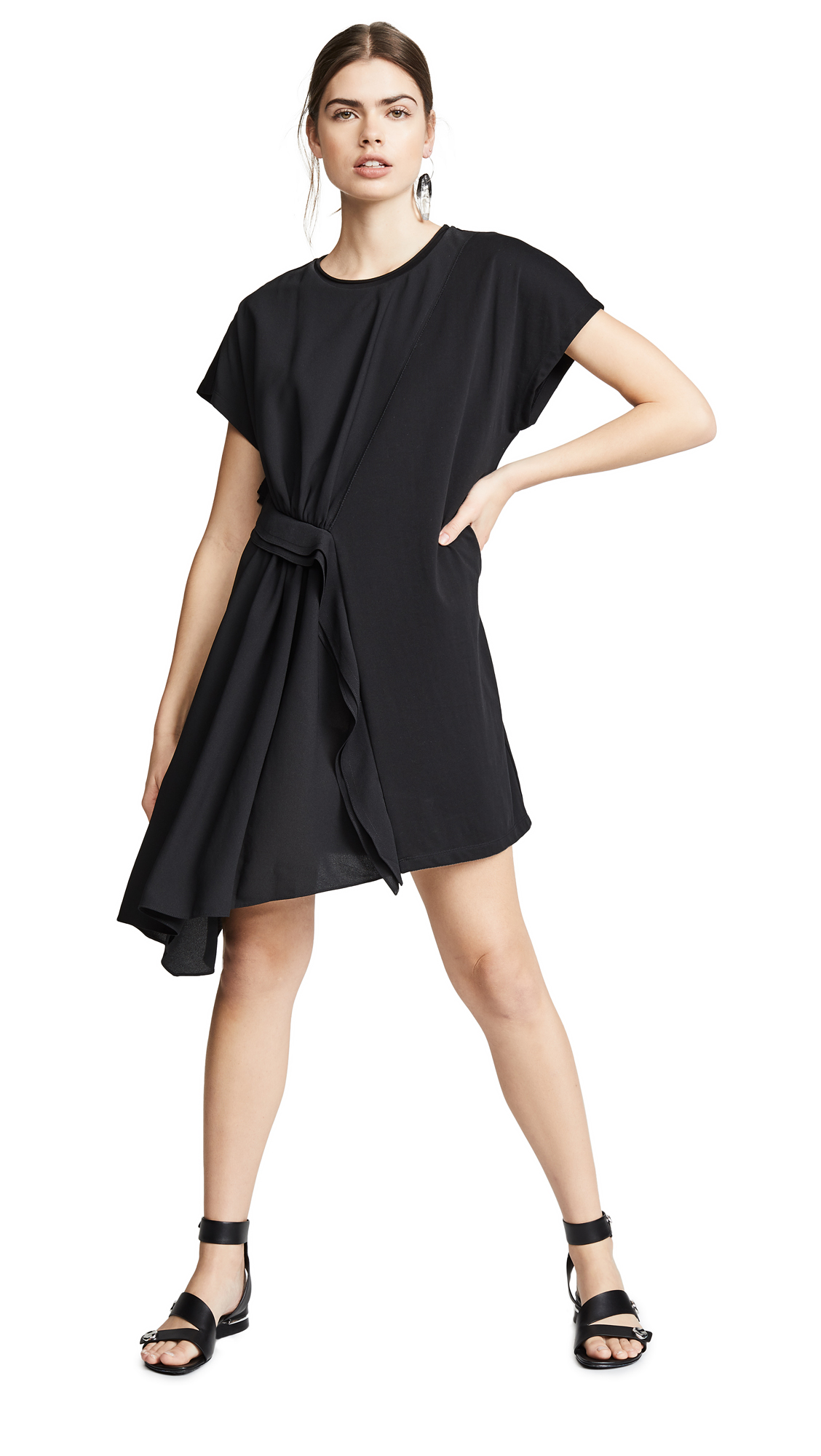 3.1 Phillip Lim Ruffle Tee Dress - Black