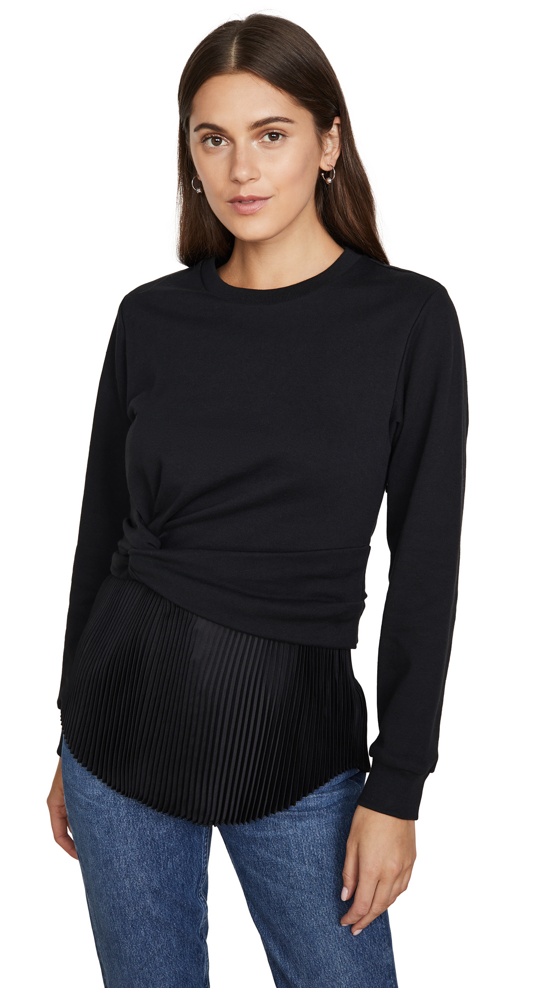 Buy 3.1 Phillip Lim online - photo of 3.1 Phillip Lim Long Sleeve Twist Pullover with Pleating