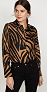 3.1 Phillip Lim Long Sleeve Zebra Print Blouse