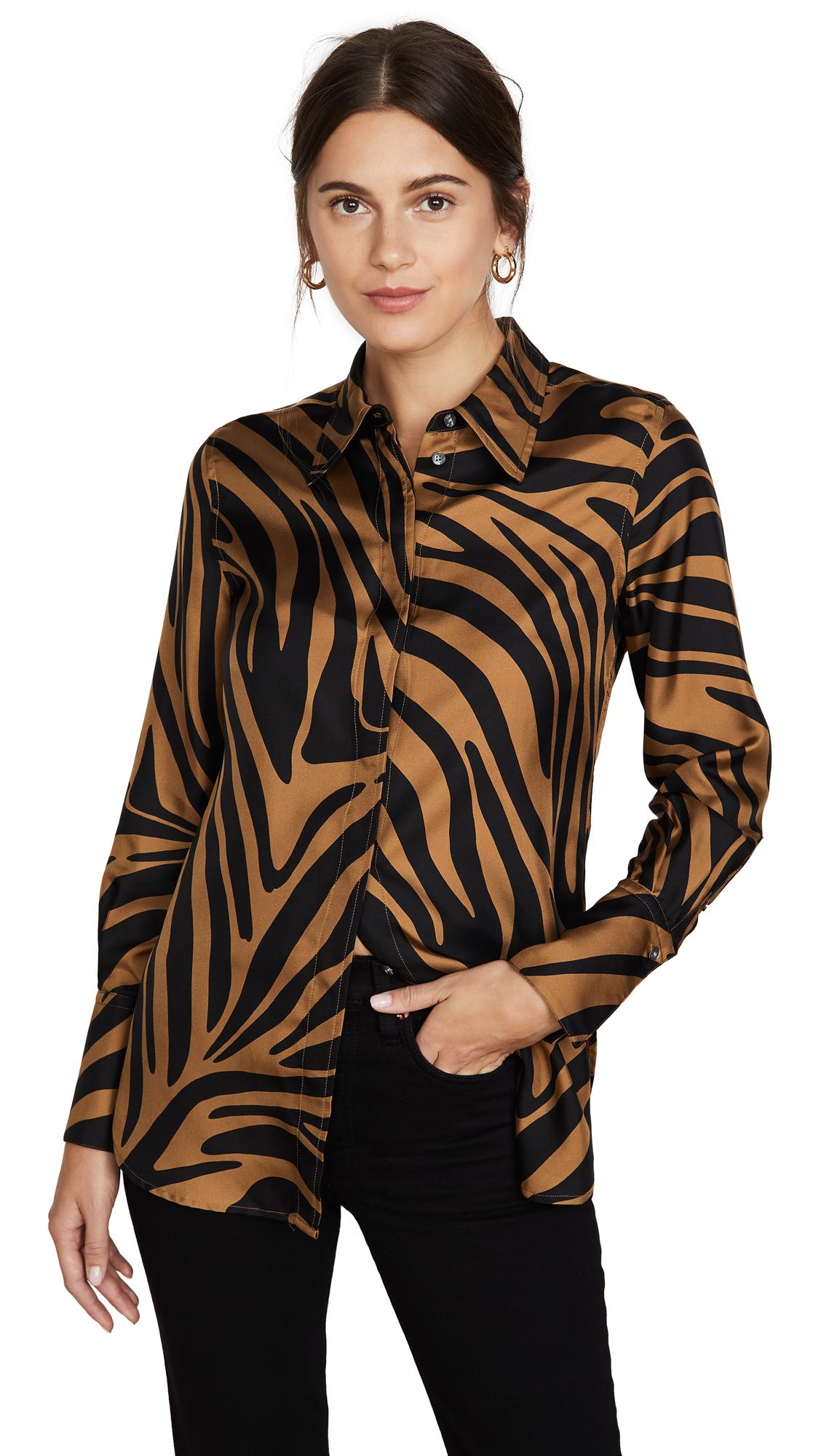 Buy 3.1 Phillip Lim online - photo of 3.1 Phillip Lim Long Sleeve Zebra Print Blouse