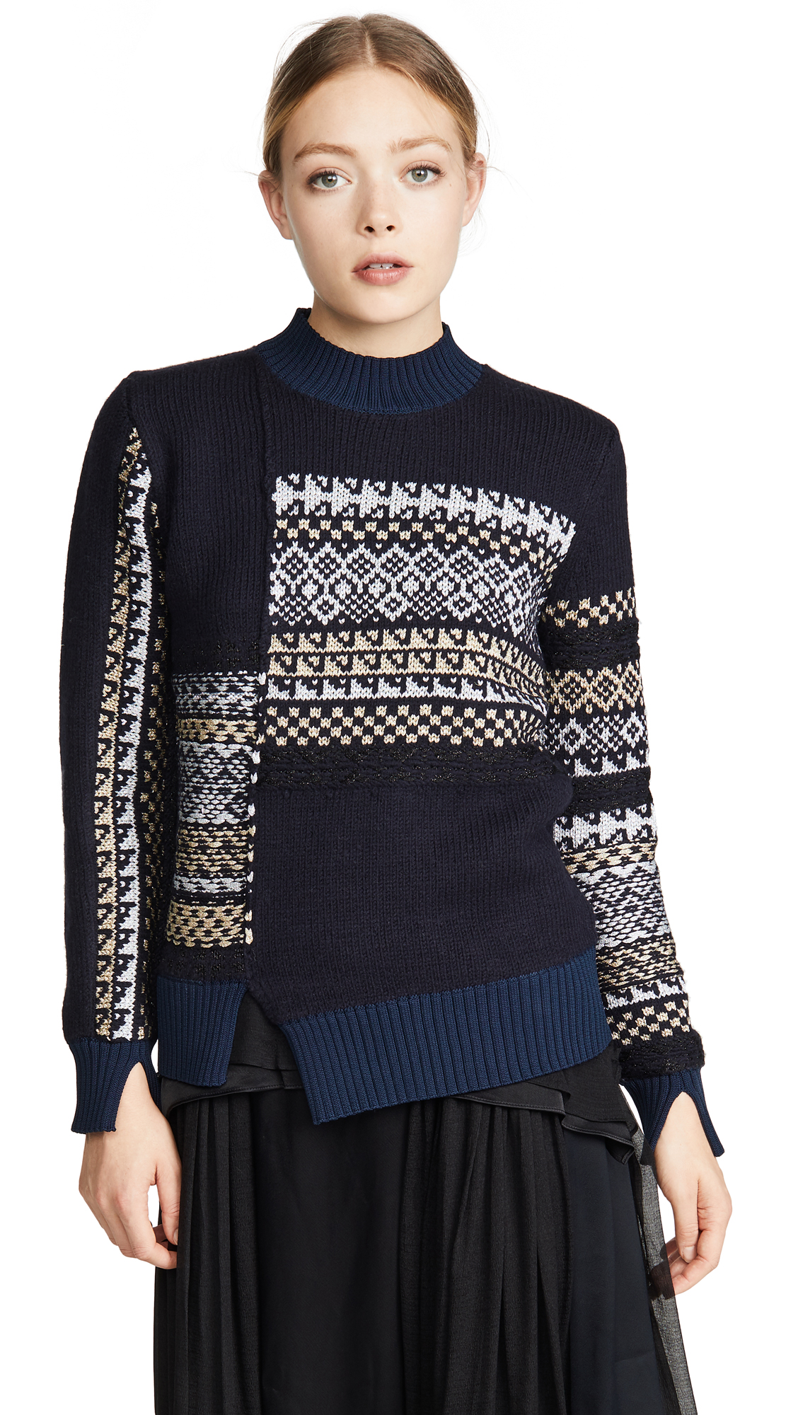 Buy 3.1 Phillip Lim online - photo of 3.1 Phillip Lim Fairisle Patchwork Pullover