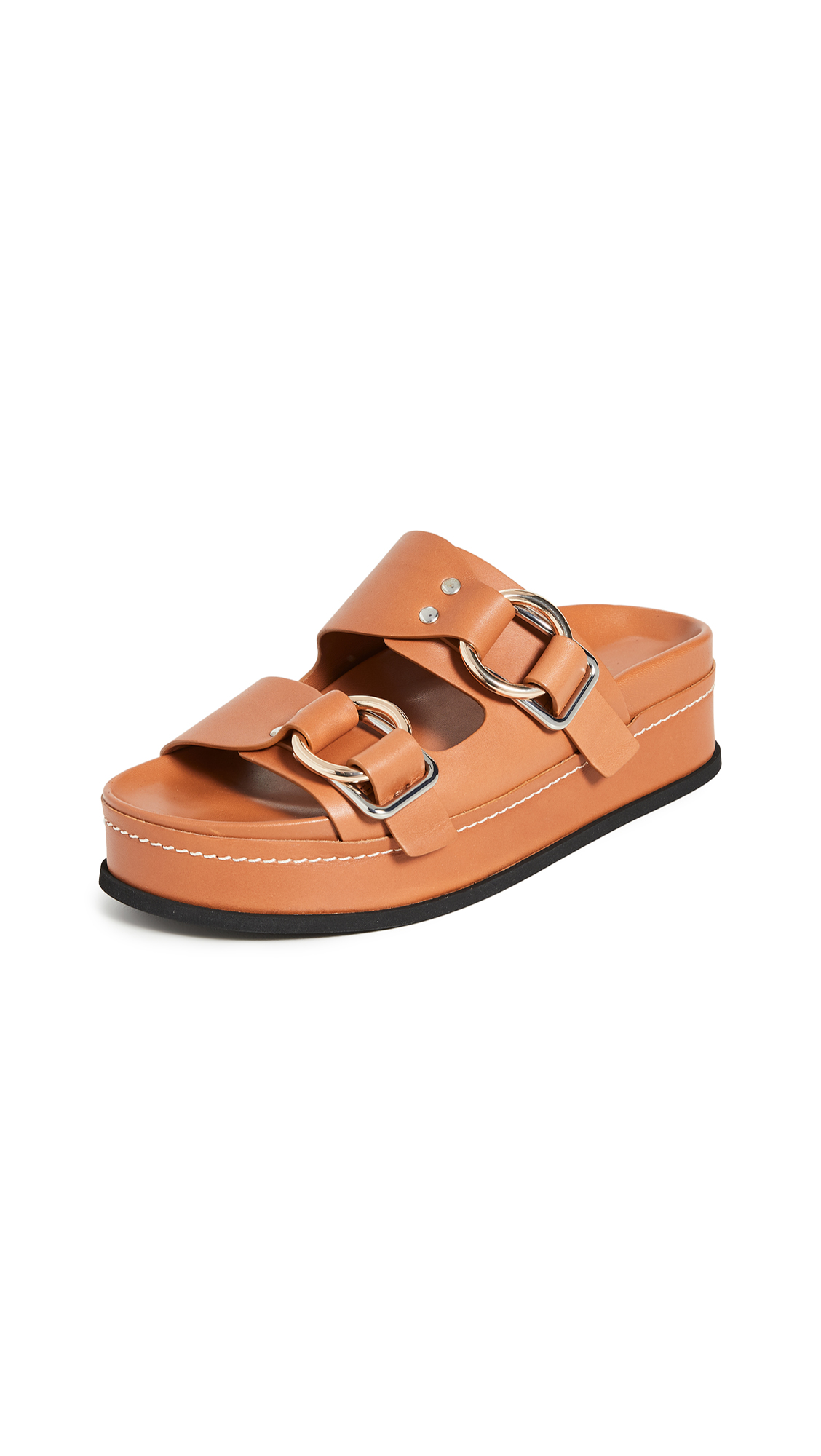 Buy 3.1 Phillip Lim online - photo of 3.1 Phillip Lim Freida Platform Double Buckle Slides