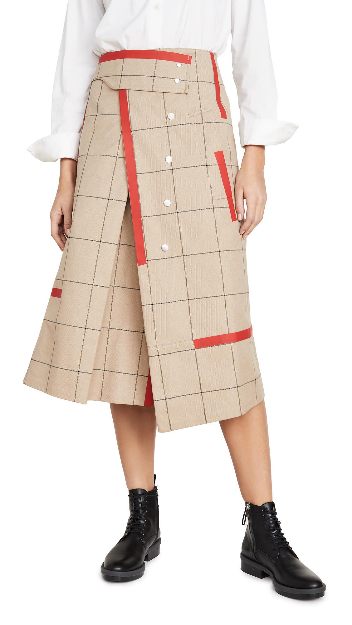 Buy 3.1 Phillip Lim online - photo of 3.1 Phillip Lim Window Pane Trench Skirt