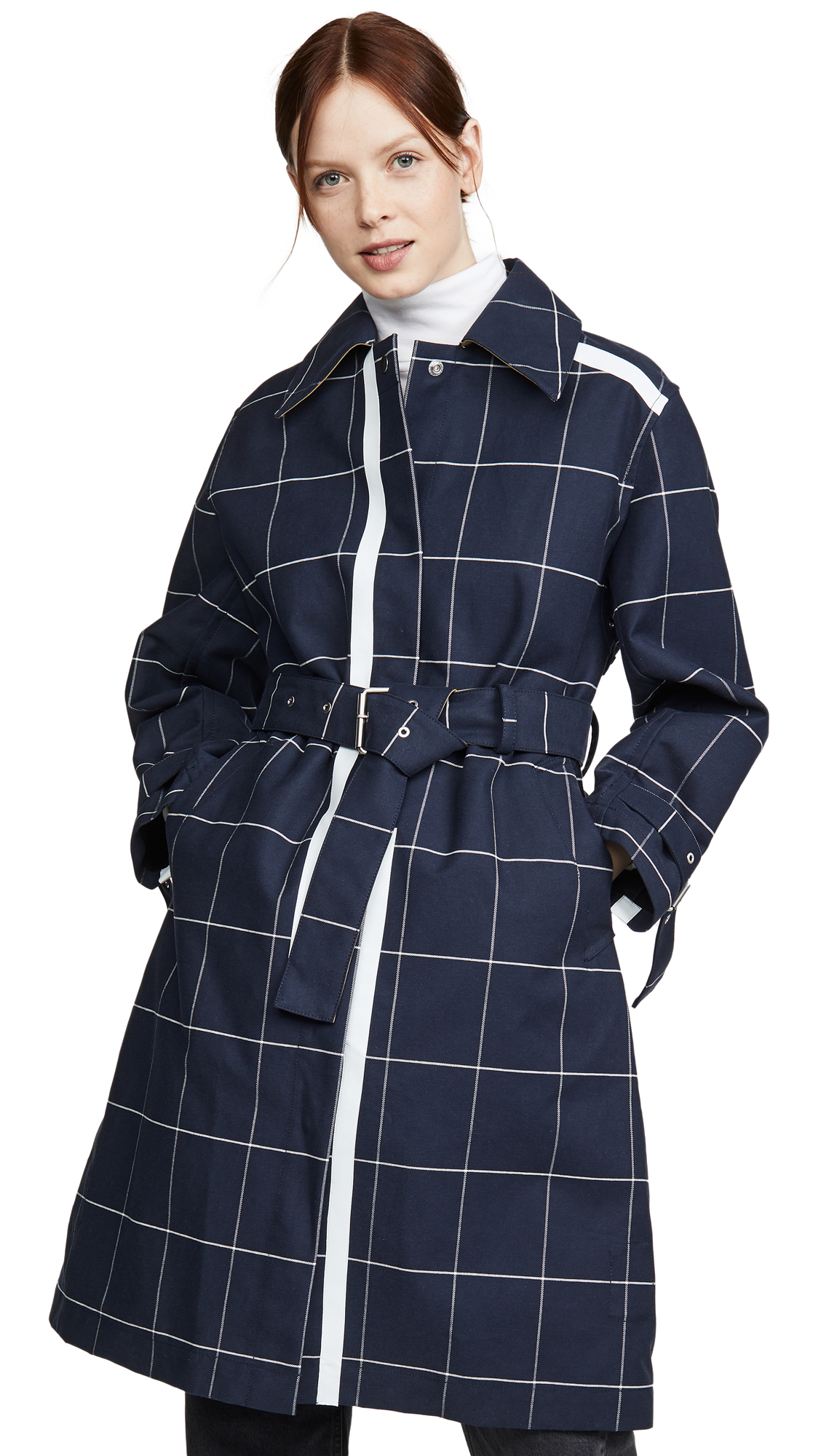 Buy 3.1 Phillip Lim Window Pane Trench with Side Slit online beautiful 3.1 Phillip Lim Jackets, Coats, Trench Coats
