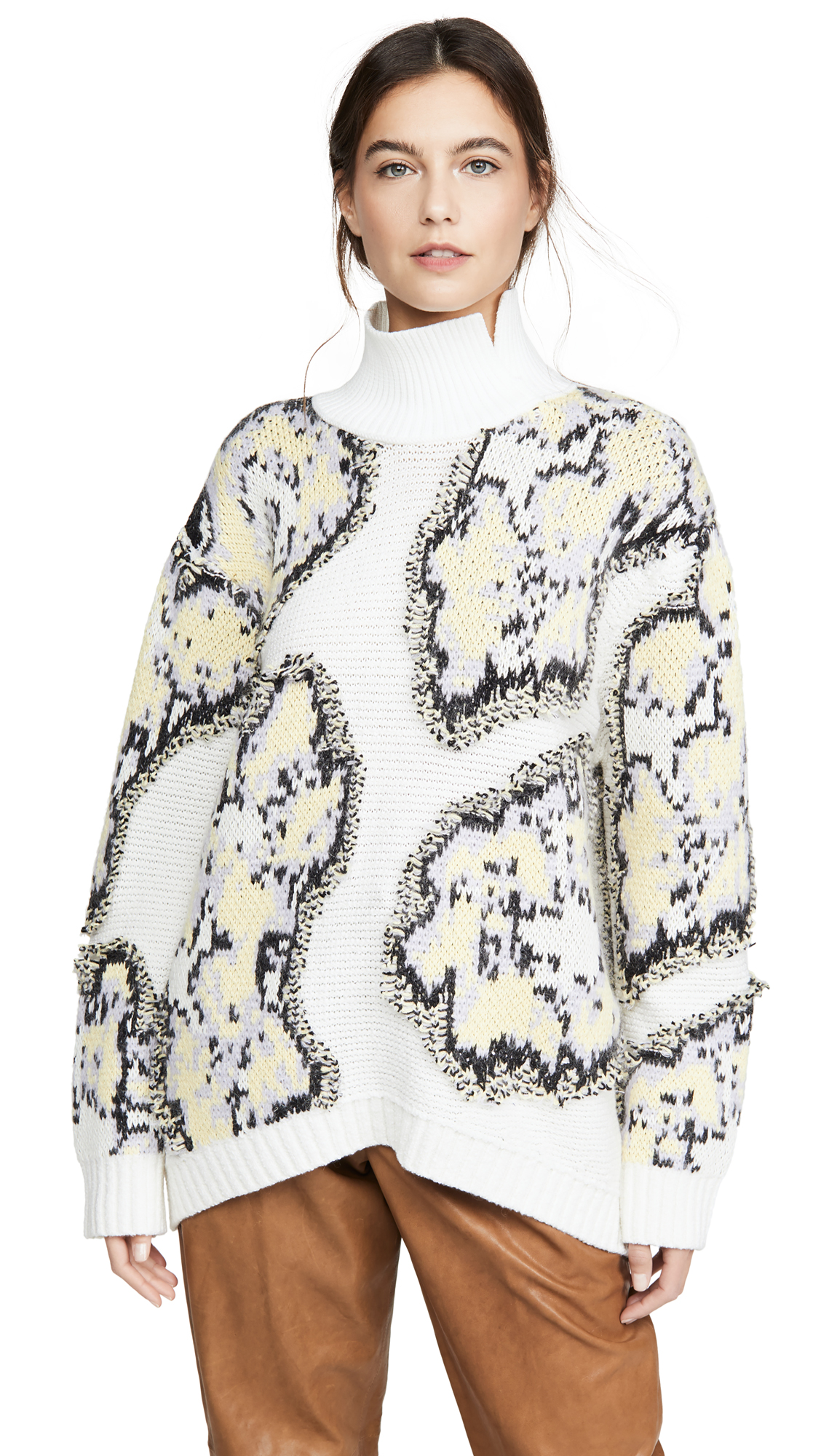 Buy 3.1 Phillip Lim online - photo of 3.1 Phillip Lim Fil Coupe Abstract Daisy Sweater