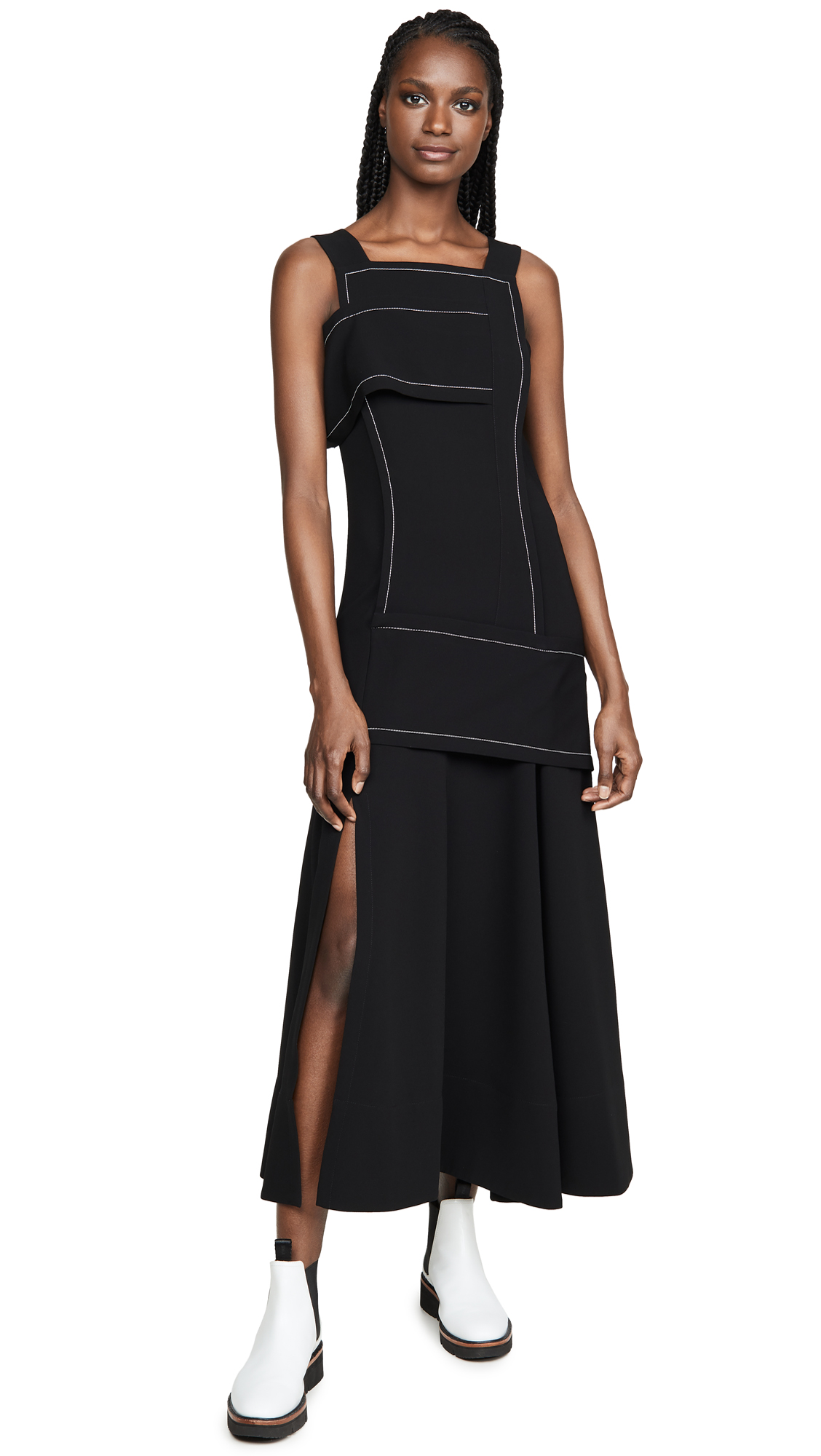 Buy 3.1 Phillip Lim online - photo of 3.1 Phillip Lim Crepe Asymmetric Wrap Cold Shoulder Dress
