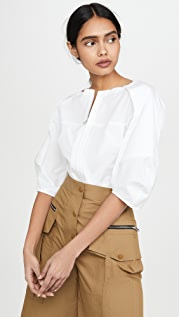 3.1 Phillip Lim Balloon Sleeve Top with Front Zip