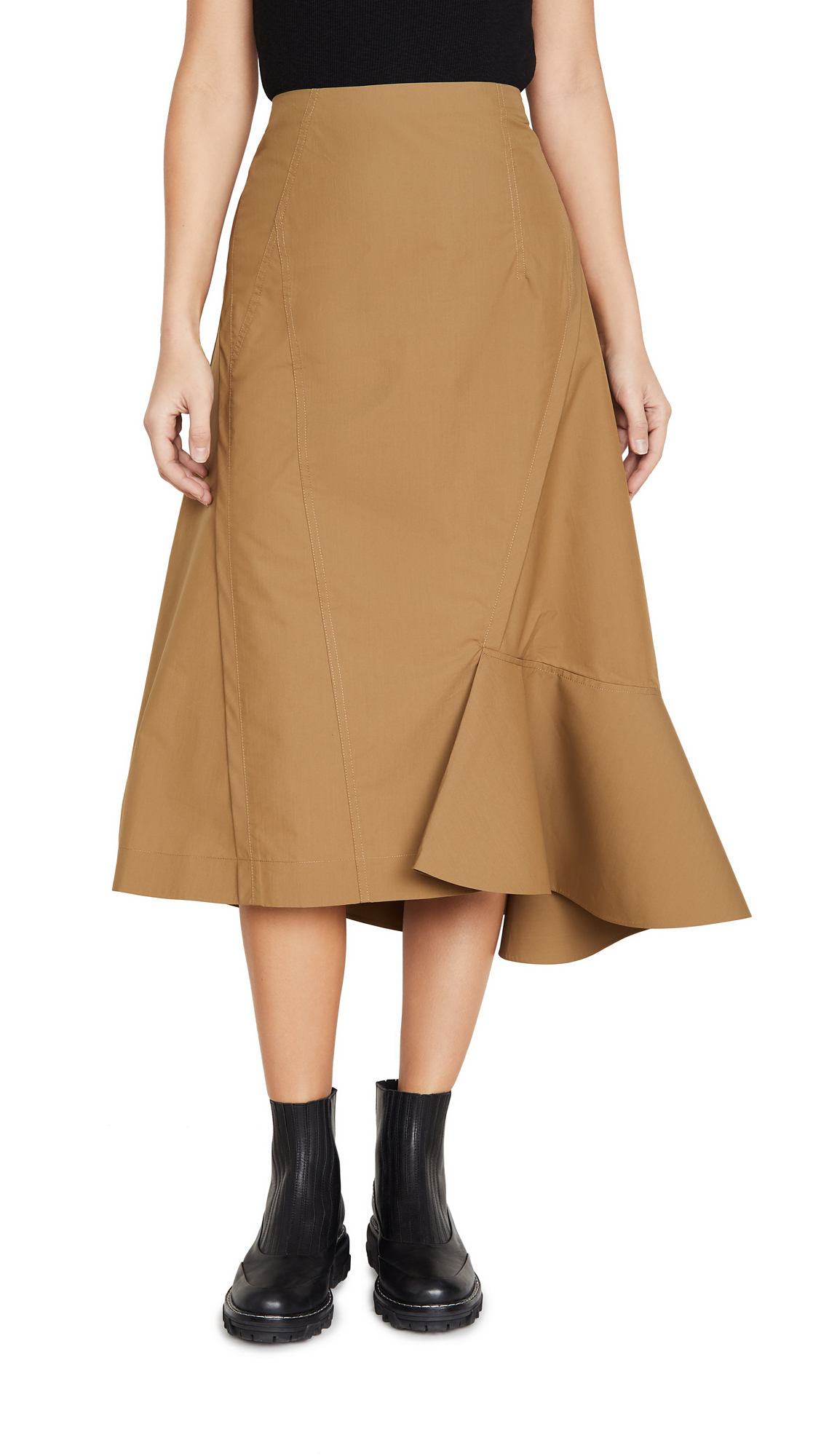 Buy 3.1 Phillip Lim online - photo of 3.1 Phillip Lim Bonded Ruffle Hem Skirt