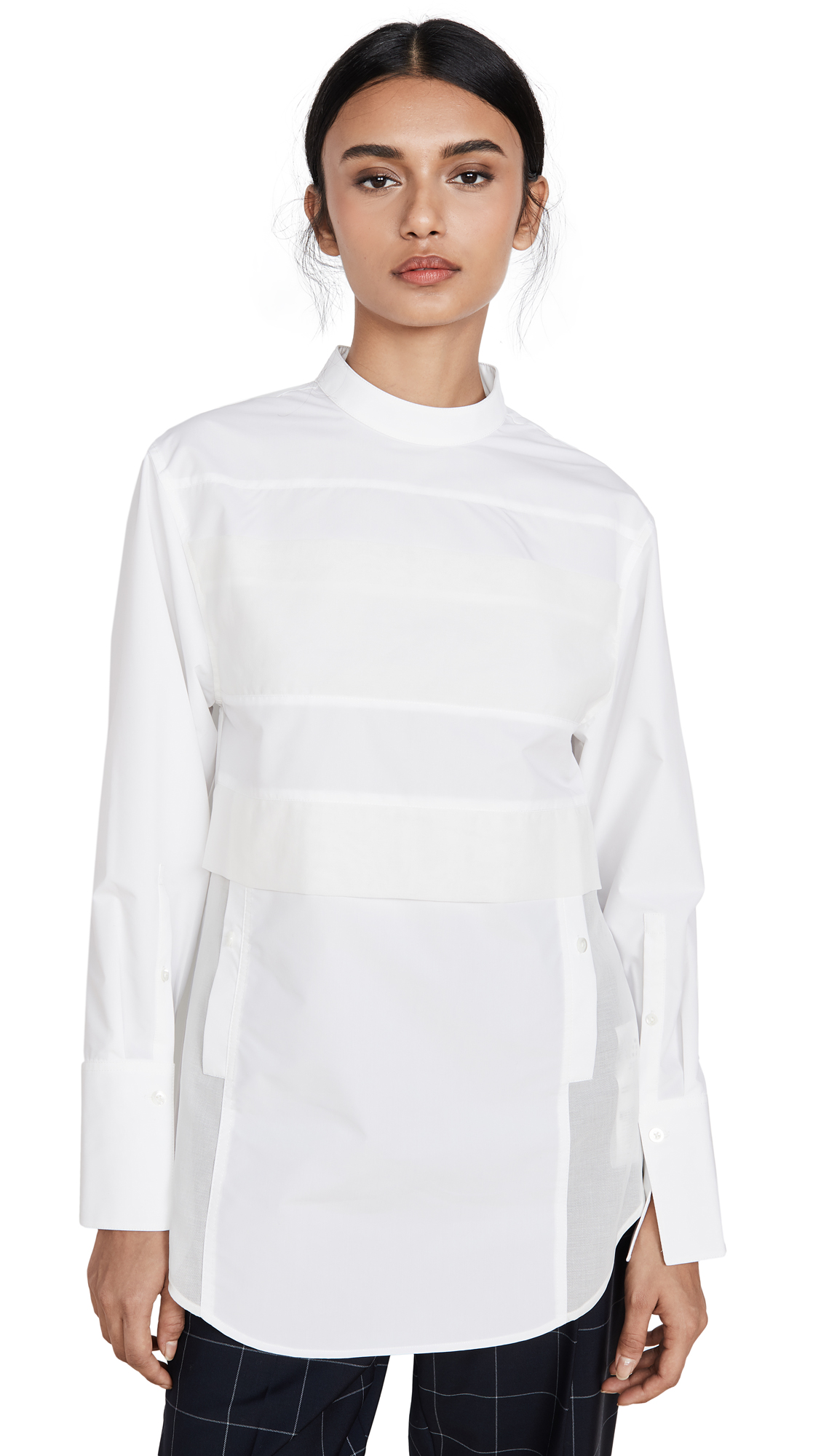 Buy 3.1 Phillip Lim online - photo of 3.1 Phillip Lim Poplin Patchwork Shirt