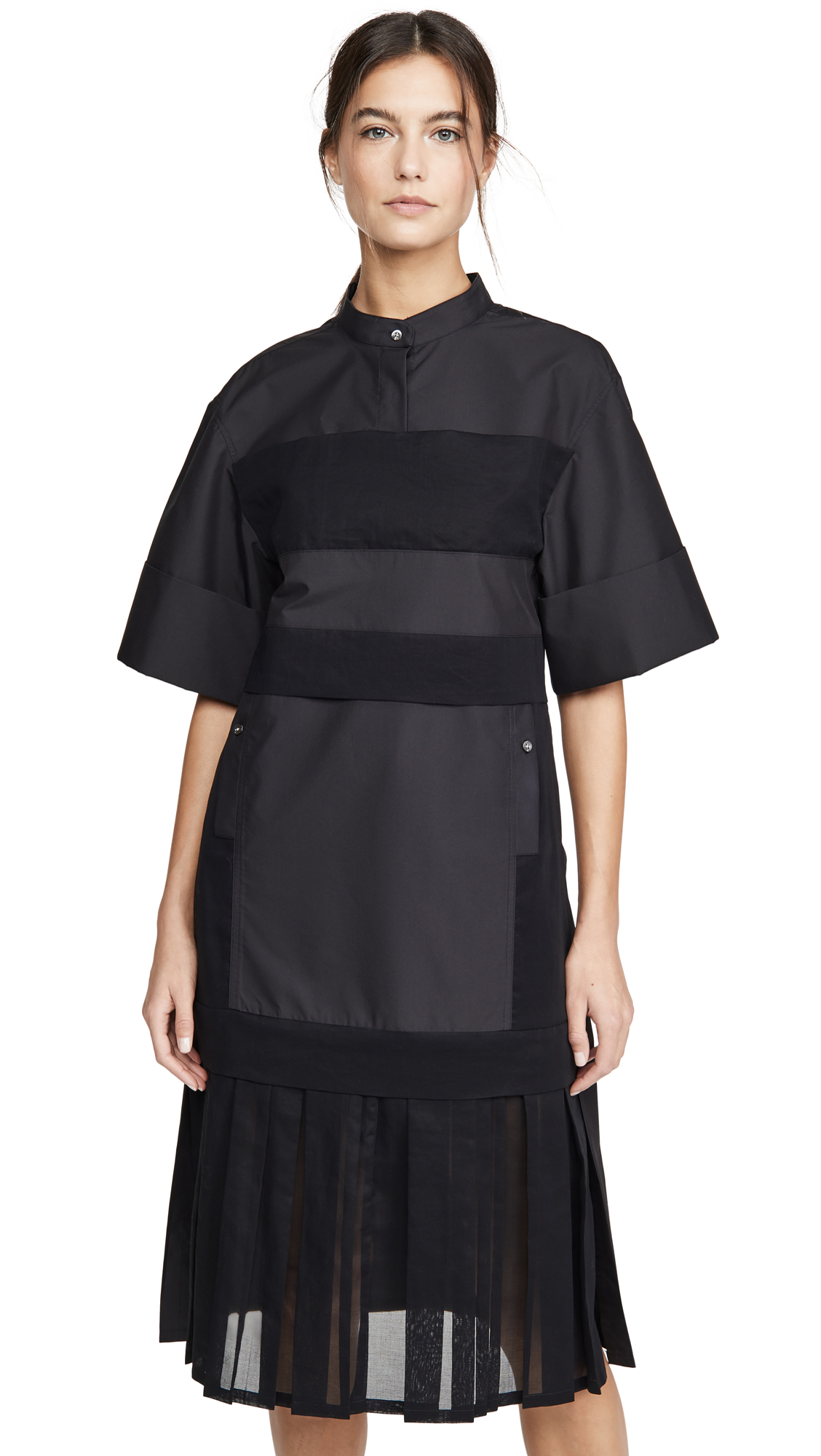 Buy 3.1 Phillip Lim online - photo of 3.1 Phillip Lim Multimedia Dress with Pleated Hem