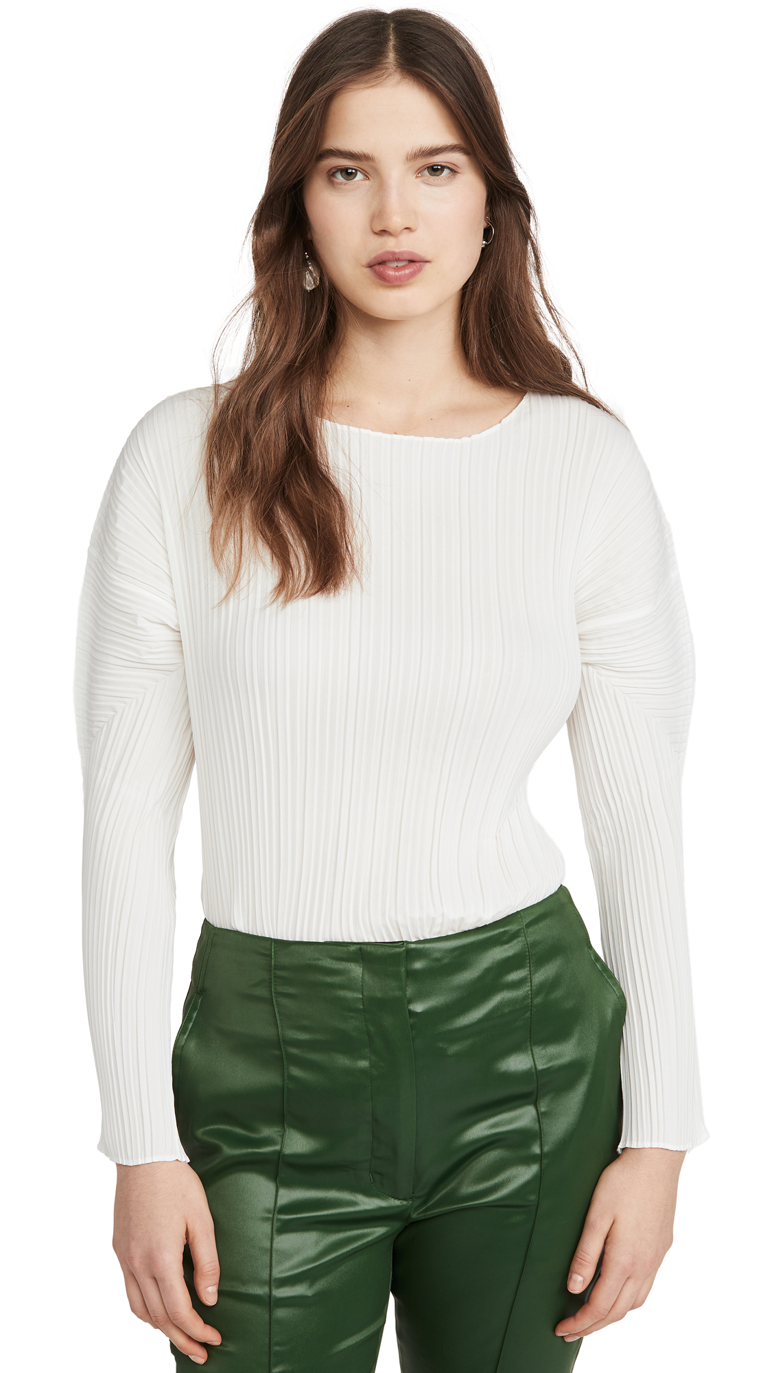 3.1 Phillip Lim Long Sleeve Mushroom Pleated Top – 50% Off Sale