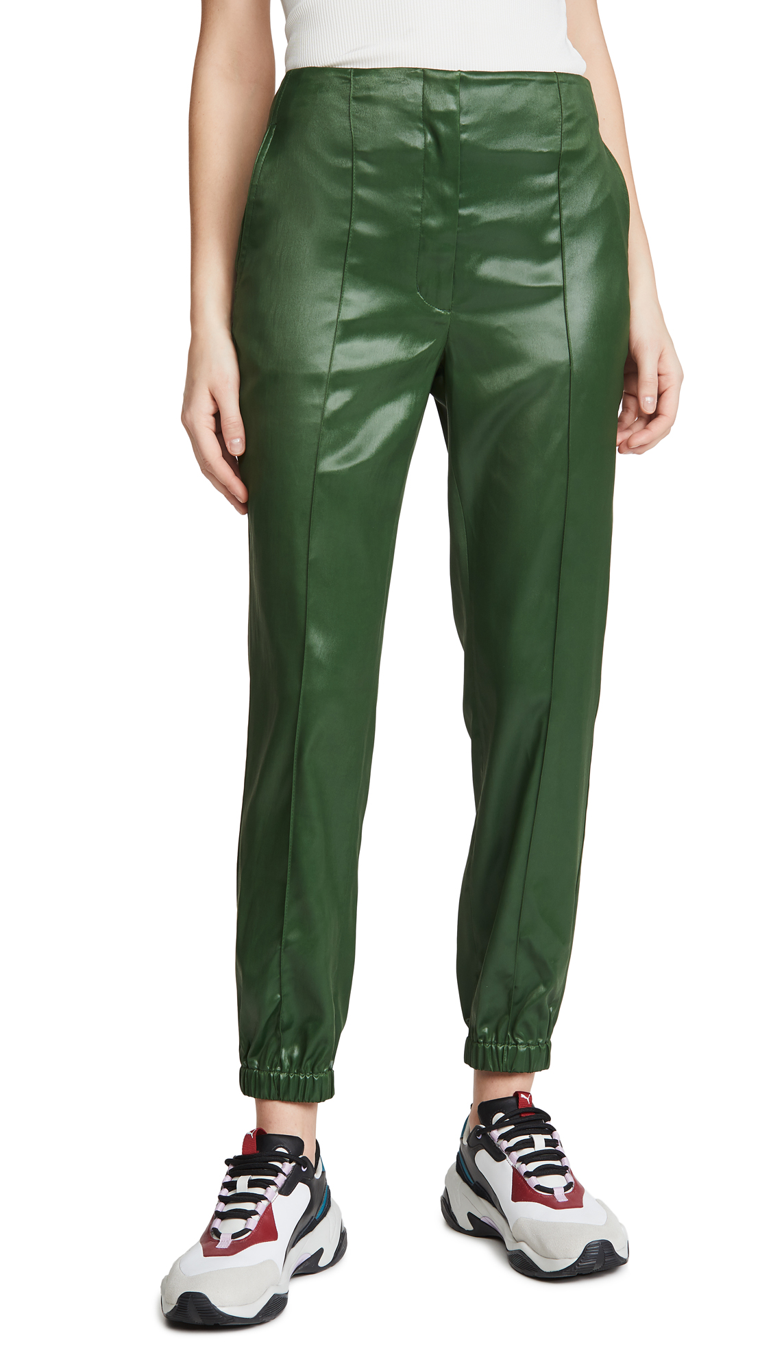 Buy 3.1 Phillip Lim online - photo of 3.1 Phillip Lim Lacquered Tailoring Joggers with Ghost Waistband