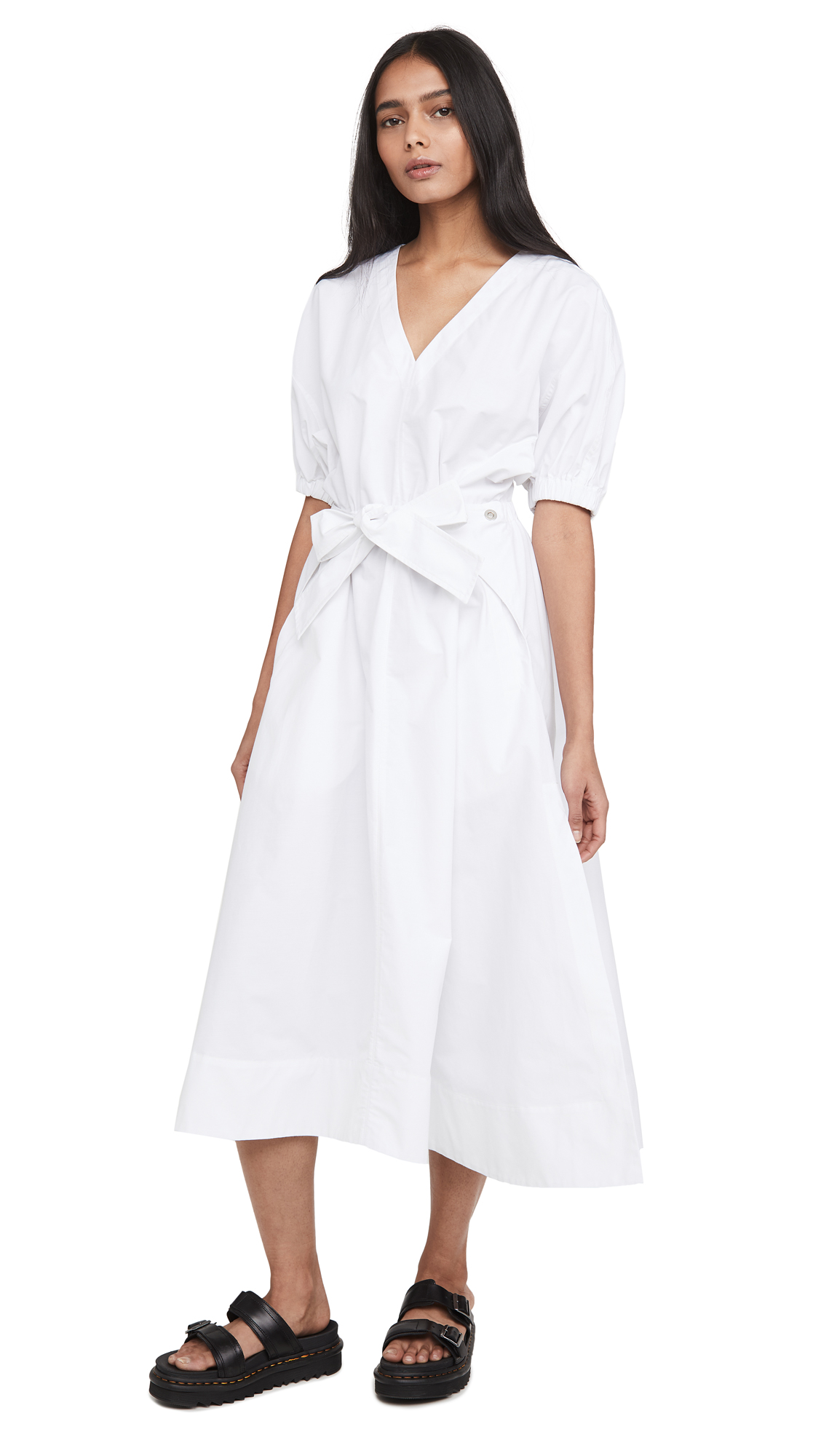 Buy 3.1 Phillip Lim Utility Belted Dress with Gathered Sleeves online beautiful 3.1 Phillip Lim Clothing, Dresses