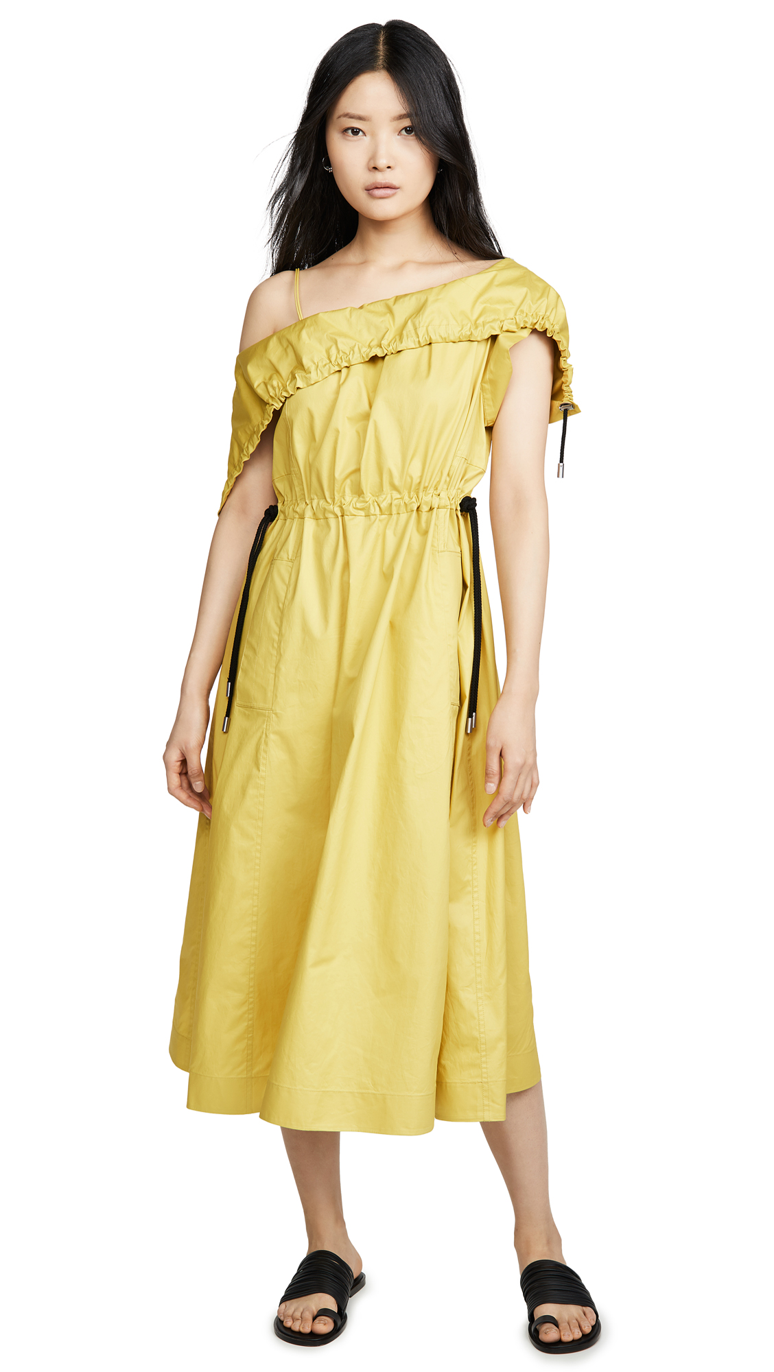 Buy 3.1 Phillip Lim online - photo of 3.1 Phillip Lim Cold Shoulder Parachute Utility Dress