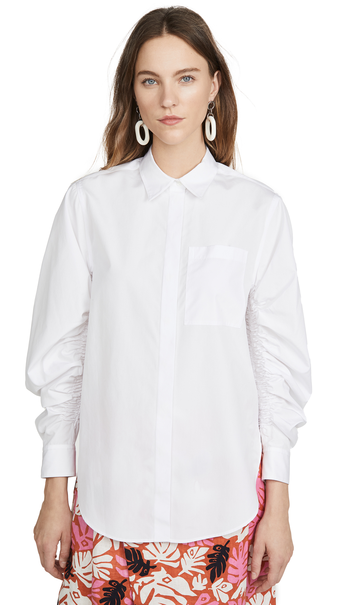 3.1 Phillip Lim Long Sleeve Shirt with Gathered Sleeves – 30% Off Sale