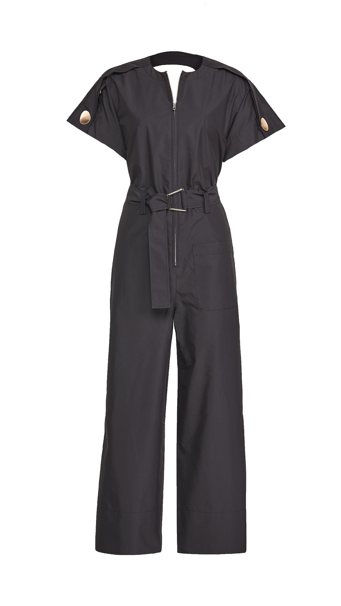3.1 Phillip Lim SHORT SLEEVE BACK CUTOUT JUMPSUIT