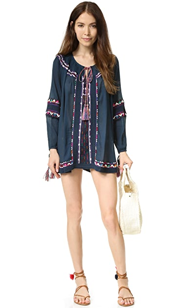 Pia Pauro Long Sleeve Embroidered Tunic