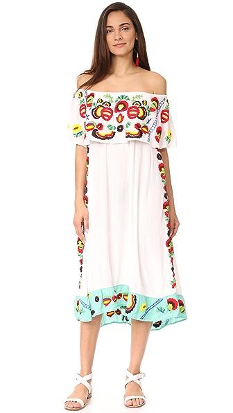 Pia Pauro Off Shoulder Layering Dress - Multi