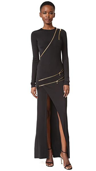 Pierre Balmain Zipper Detail Gown