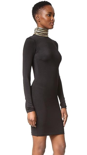 Pierre Balmain Embellished Turtleneck Dress