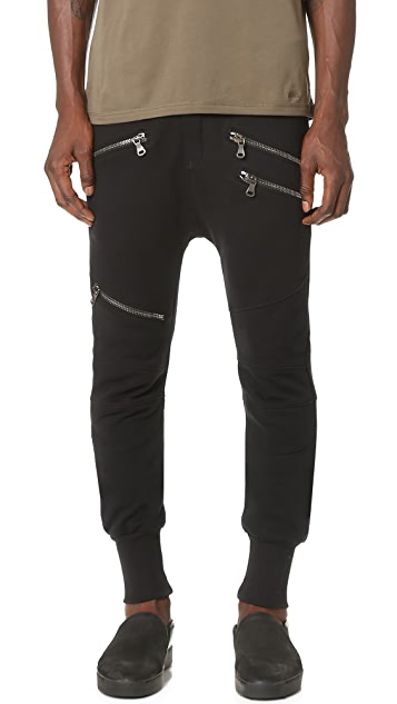 Pierre Balmain Moto Sweat Pants